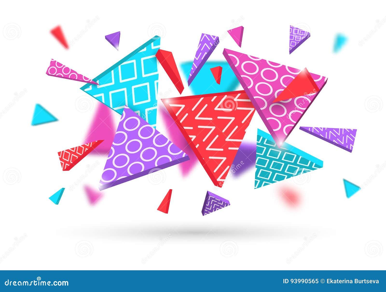 Fondo abstracto dinámico de las formas geométricas