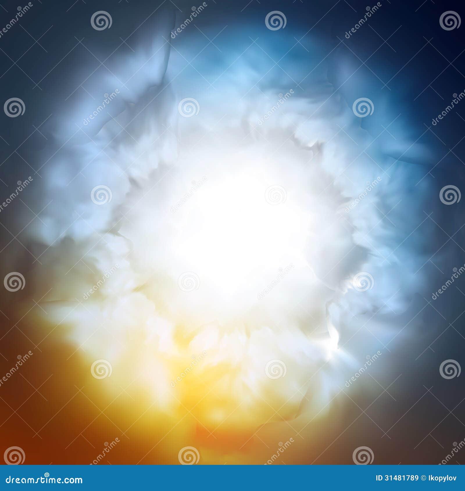 Fondo abstracto, el cielo divino