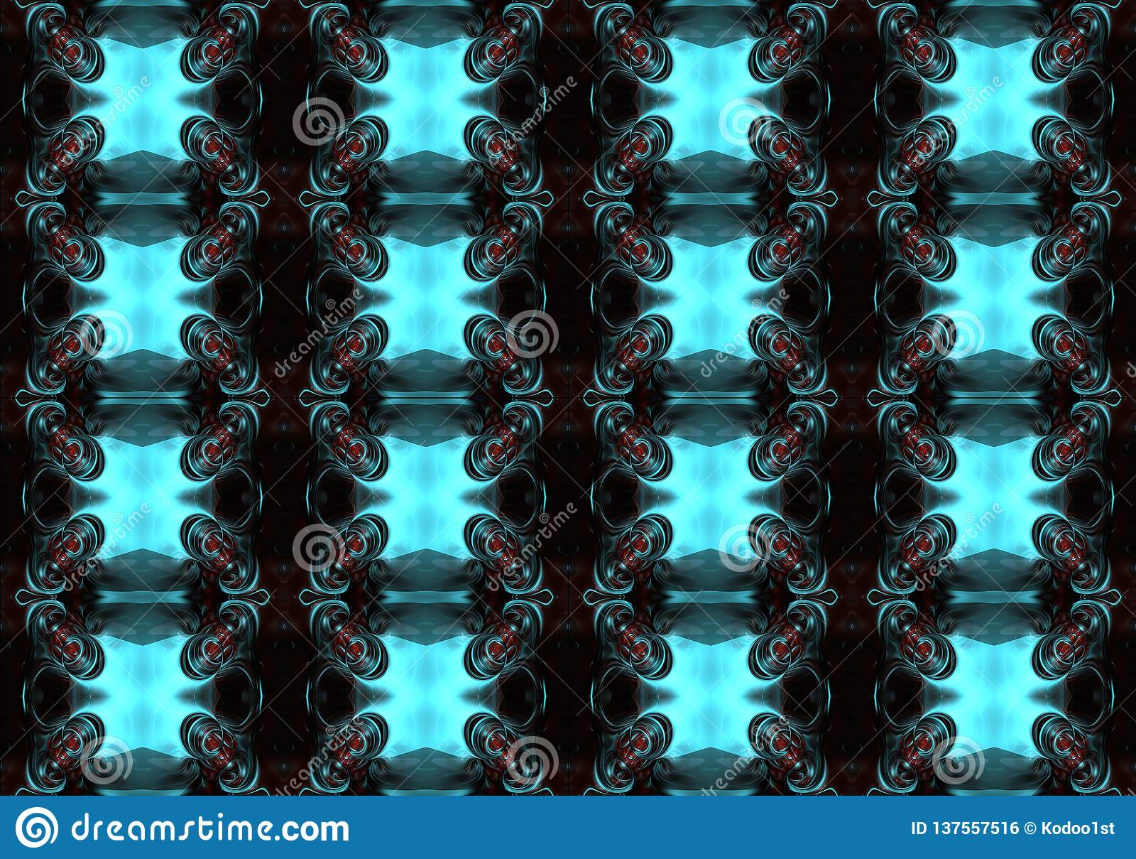 Fondo abstracto enérgico brillante futurista multicolor único artístico generado por ordenador de los modelos de los fractales 3d