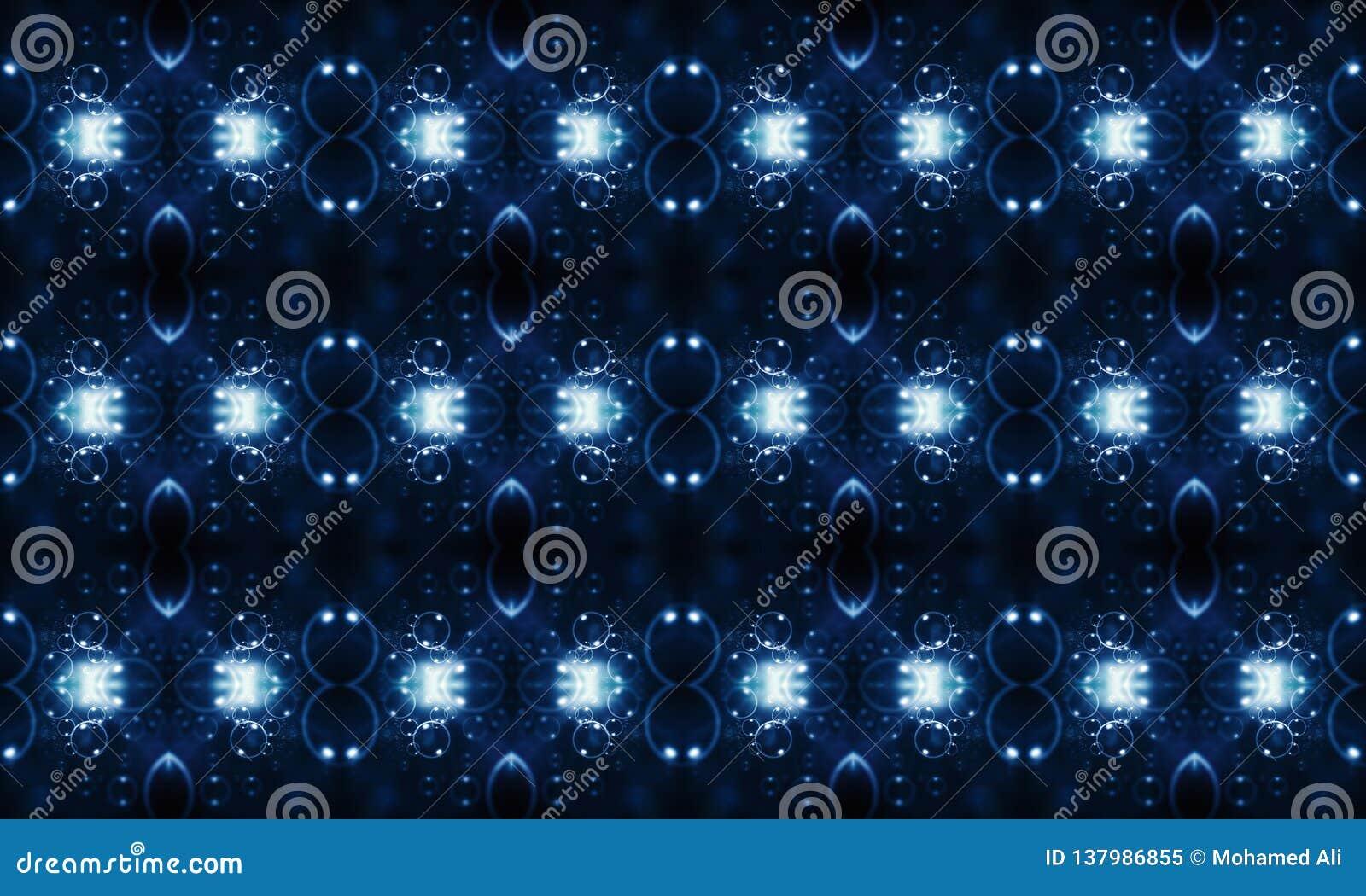 Fondo abstracto enérgico futurista multicolor único generado por ordenador de los modelos de los fractales que brilla intensament