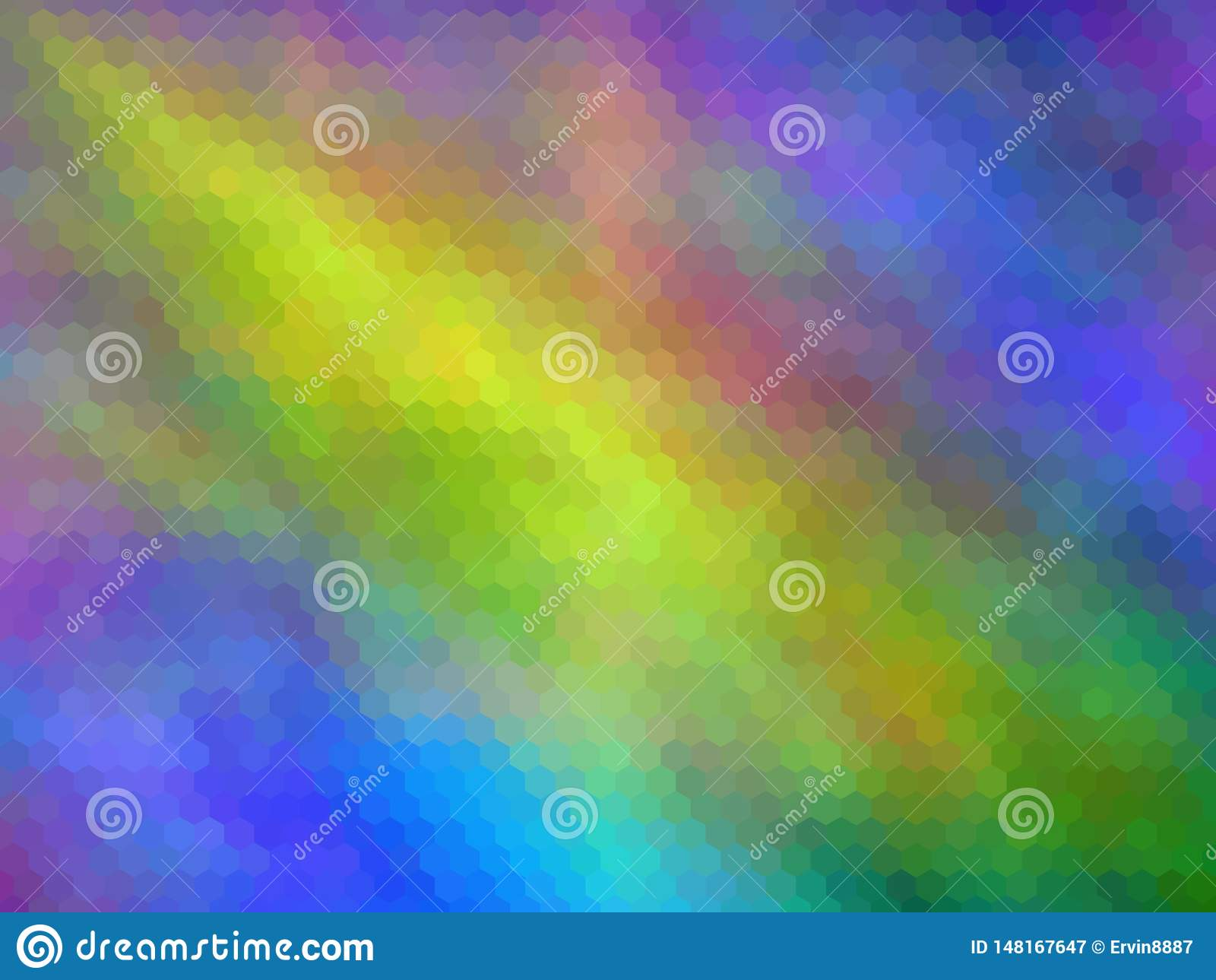 Fondo abstracto enmascarado Fondo abstracto hexagonal pixeled multicolor