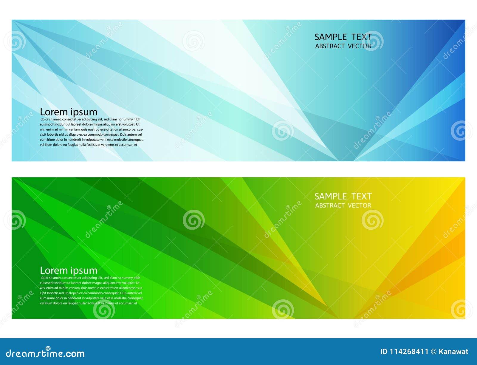 Fondo abstracto geométrico del color azul y verde con el espacio de la copia, ejemplo del vector para la bandera de su negocio