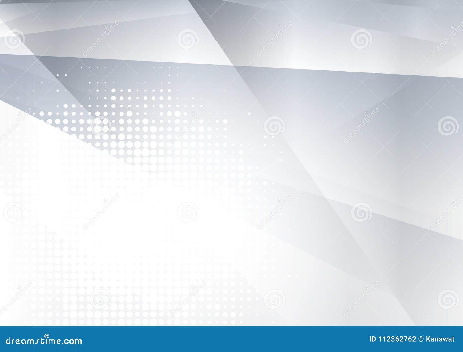 Fondo abstracto geométrico gris y de plata del vector con el espacio de la copia