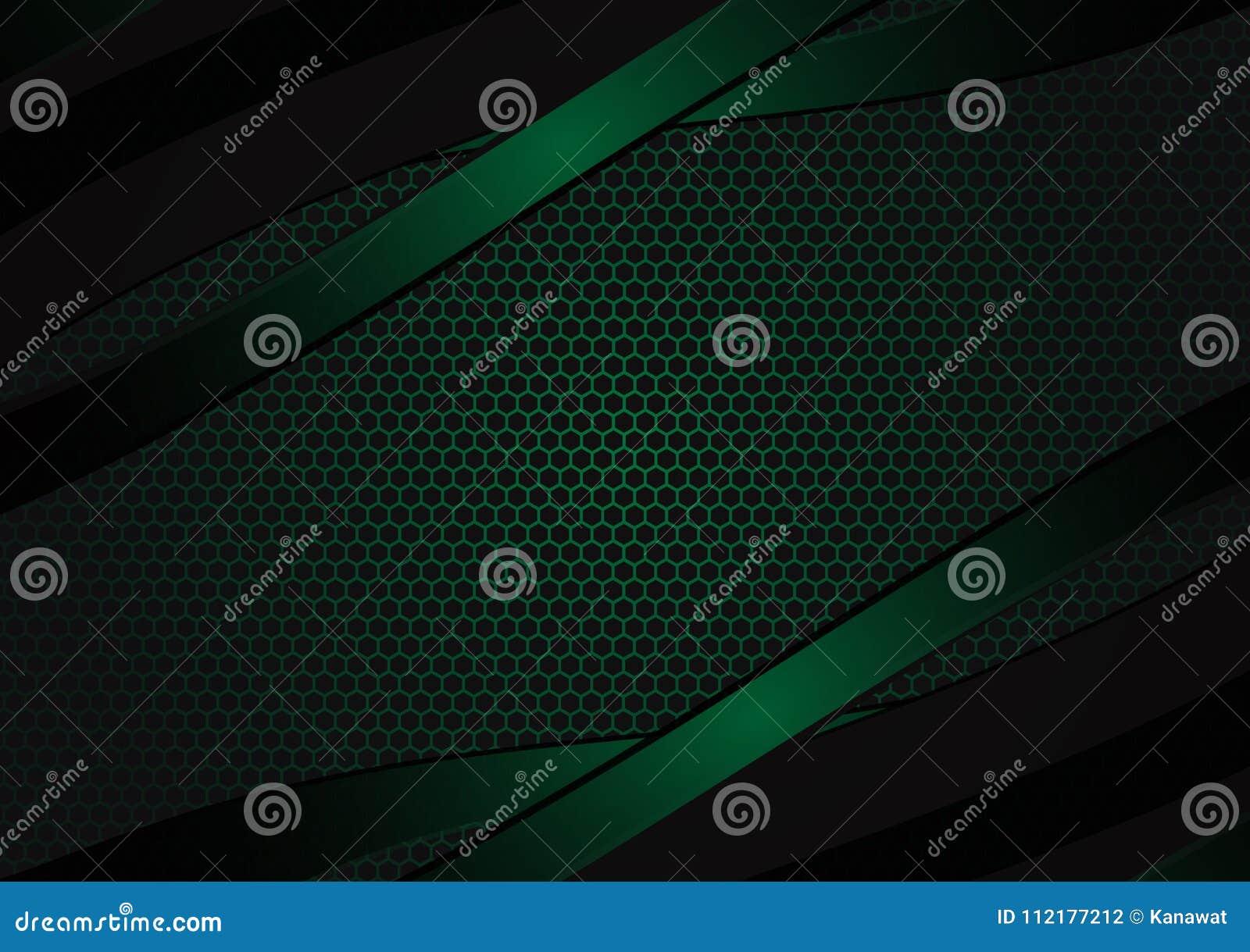 Fondo abstracto geométrico negro y verde del vector con el espacio de la copia con diseño moderno del espacio de la copia