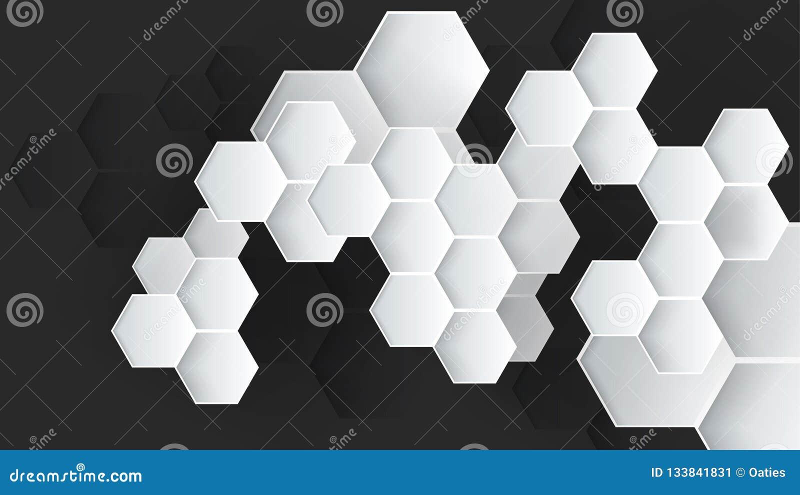 Fondo abstracto hexagonal del vector