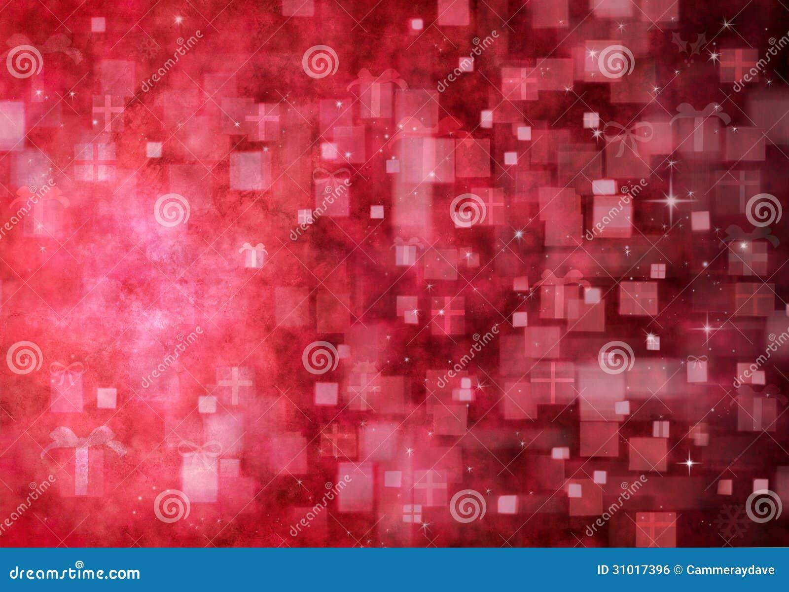 Fondo abstracto rojo de la Navidad