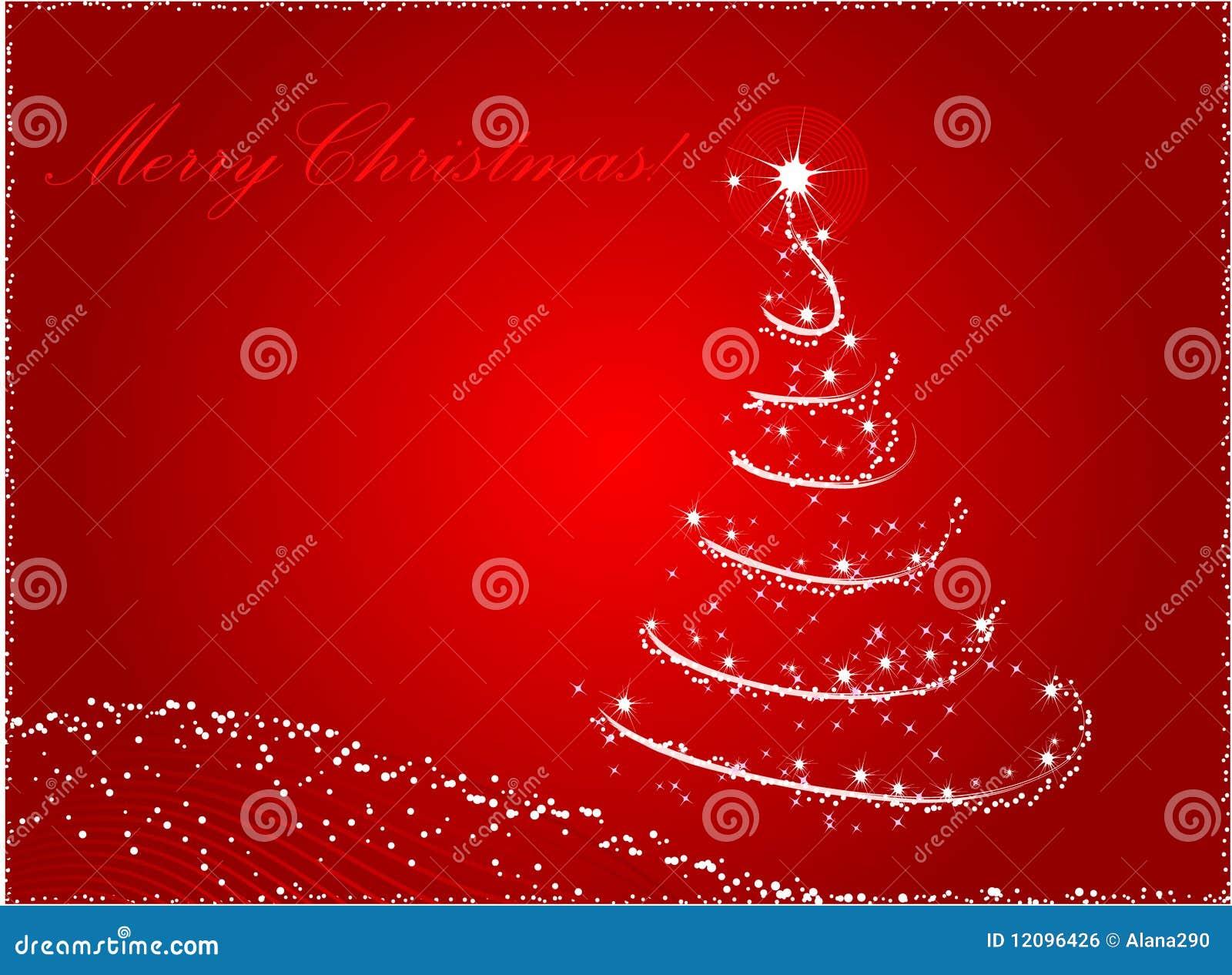 fondo abstracto rojo del rbol de navidad