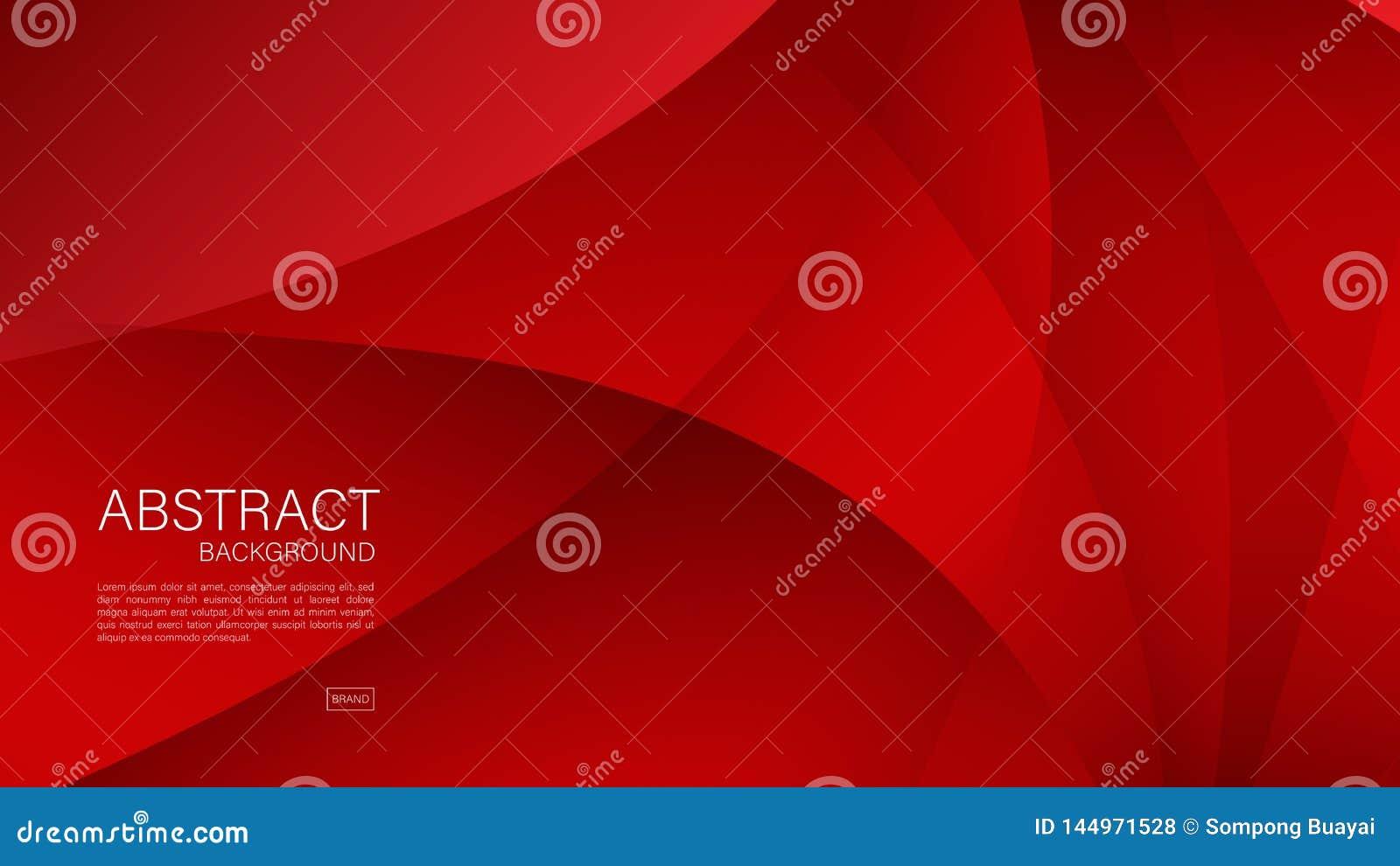 Fondo abstracto rojo, onda, vector geométrico, textura gráfica, mínima, diseño de la cubierta, plantilla del aviador, bandera