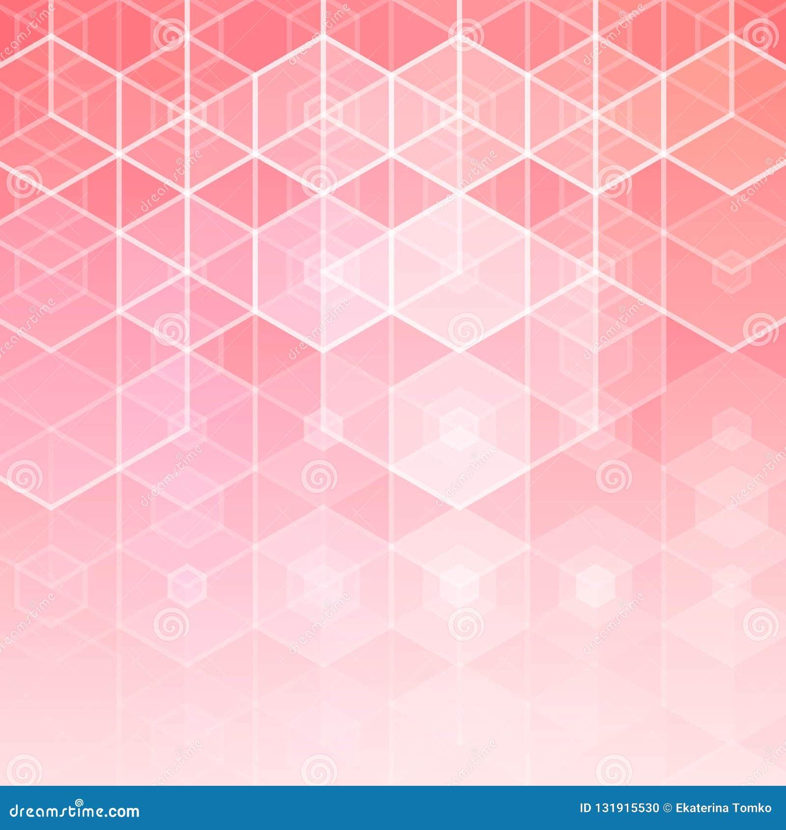 Fondo abstracto rosado Ilustración del vector Disposición para hacer publicidad templateeps 10 de la presentación