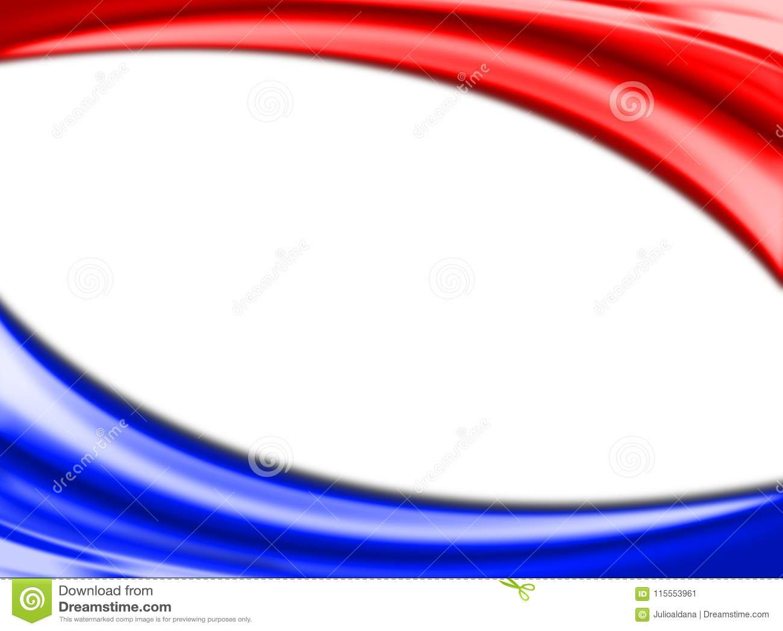 Fondo Abstracto Suave Abstracto Del Rojo, Azul Y Blanco