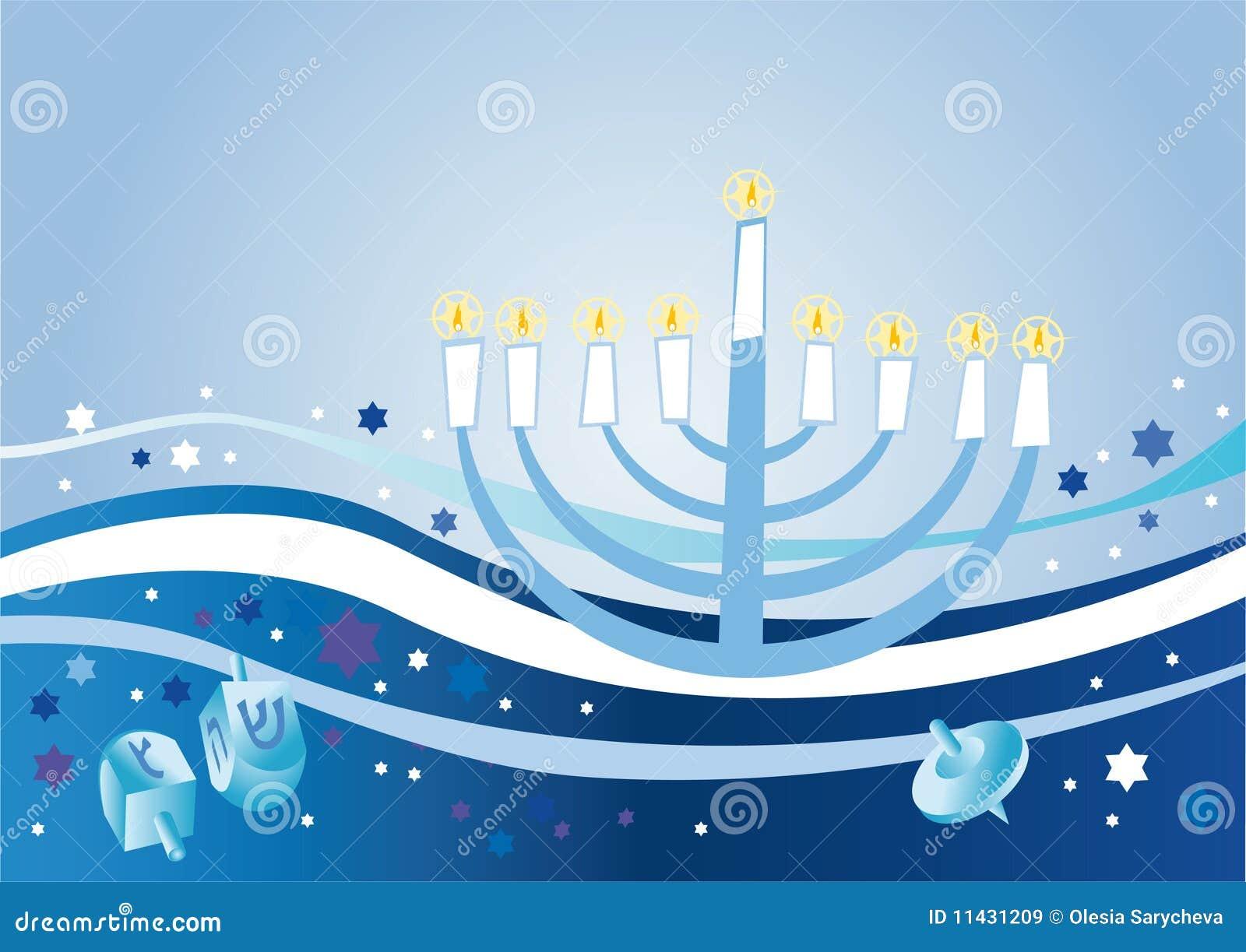 Fondo alegre al día de fiesta judío Hanukkah