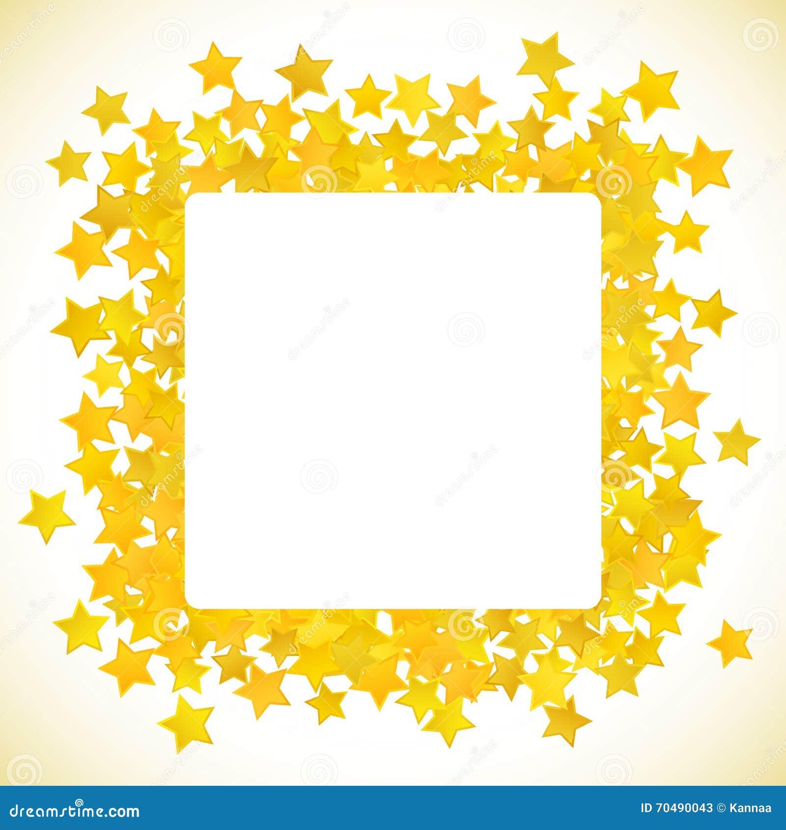 Fondo amarillo abstracto de la estrella Ilustración del vector