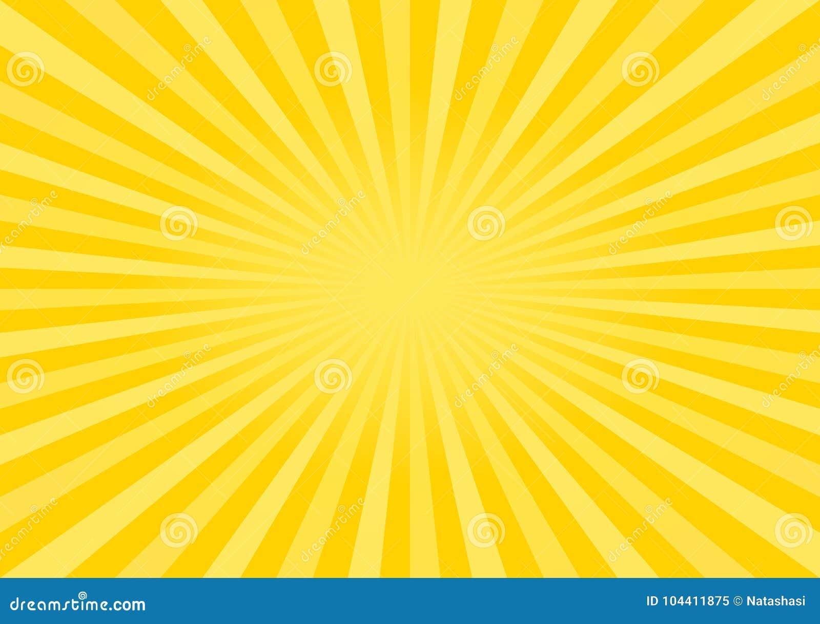 Fondo Amarillo-naranja Brillante Abstracto De Los Rayos