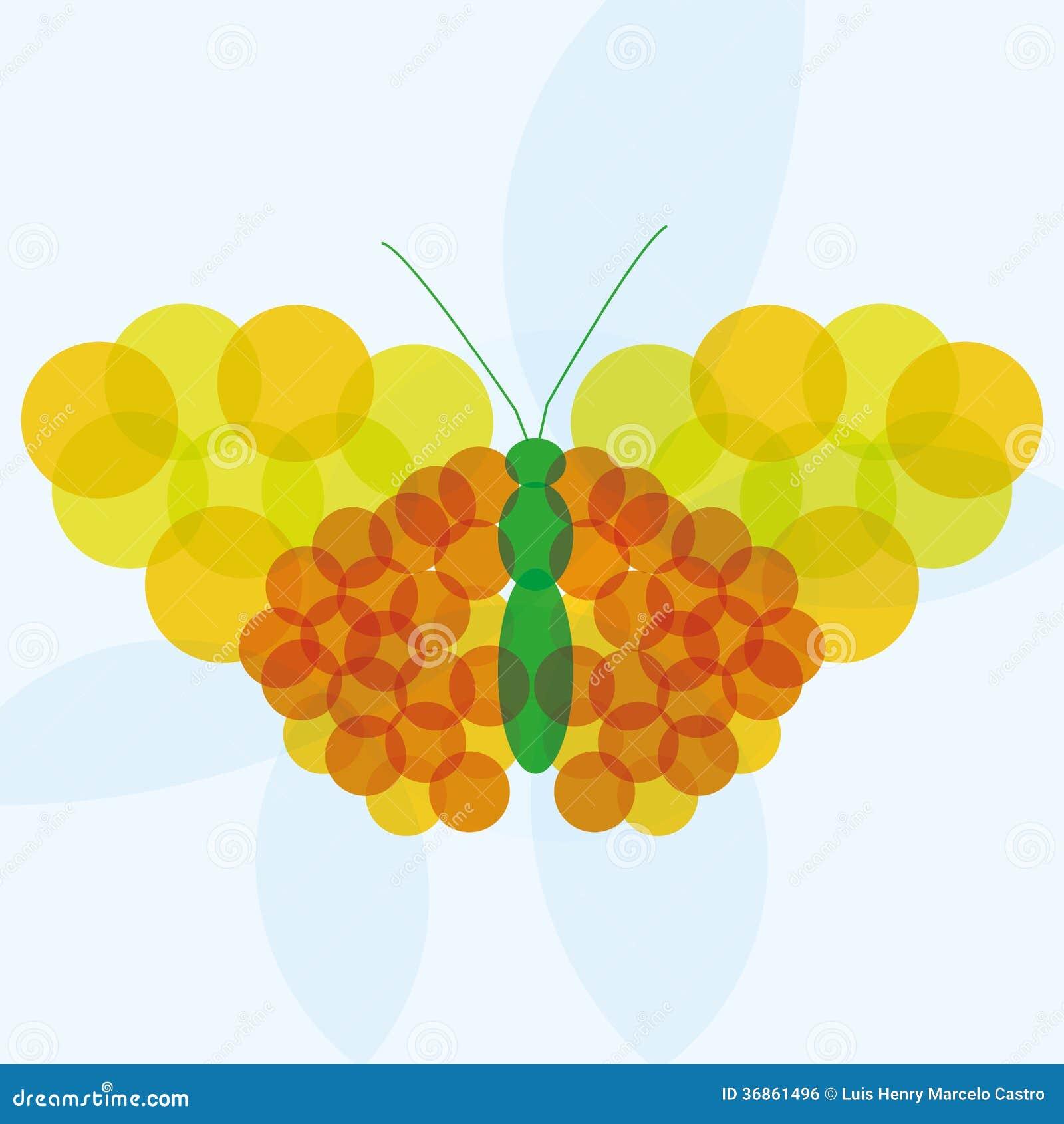 Fondo amarillo naranja del vector y verde abstracto de la - Amarillo naranja ...
