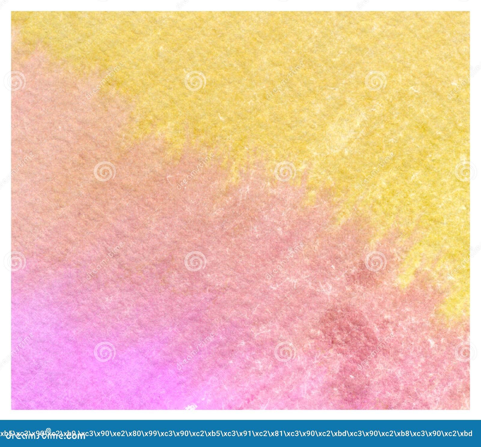 Fondo amarillo rosado colorido de la acuarela del extracto