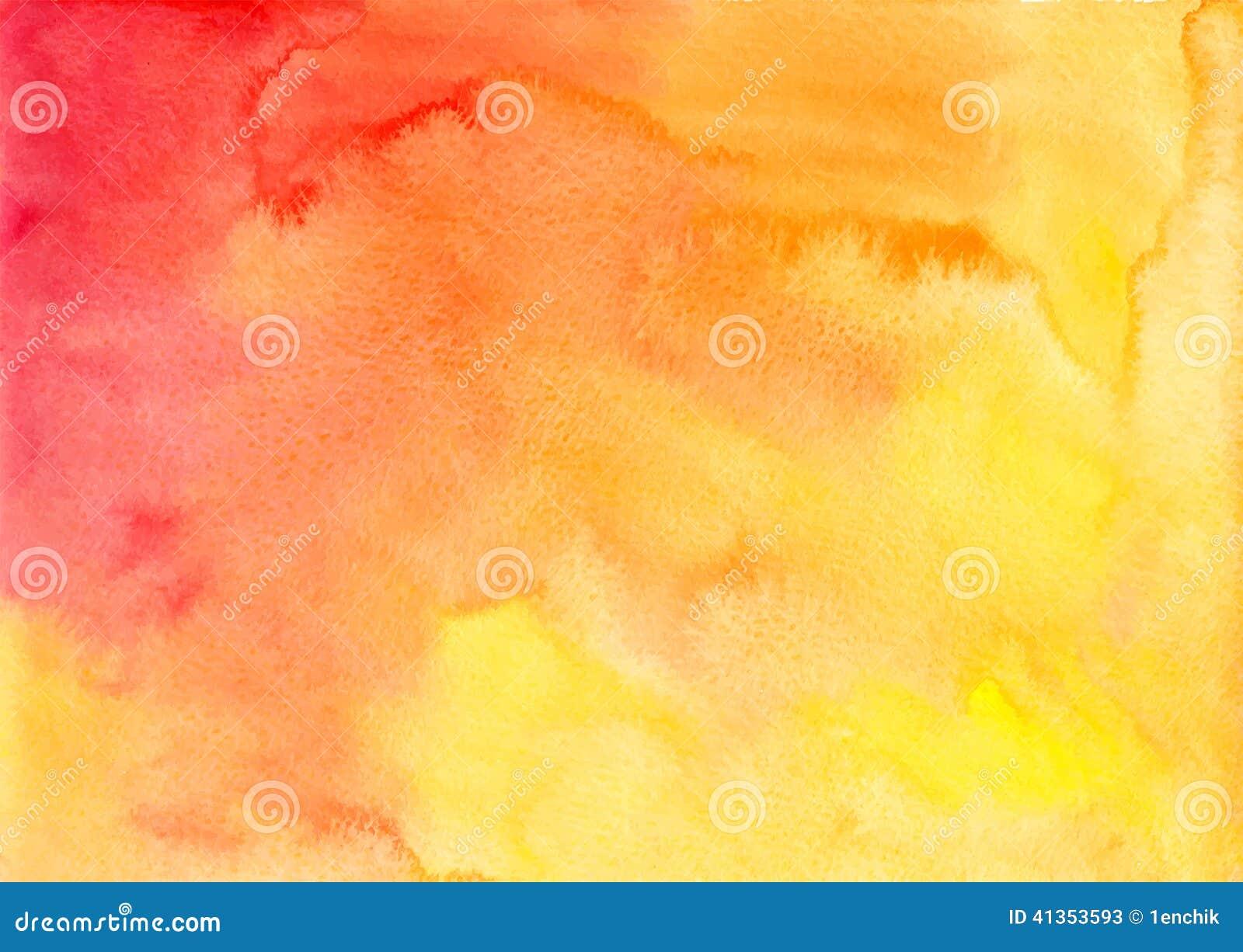 Fondo anaranjado del vector de la acuarela