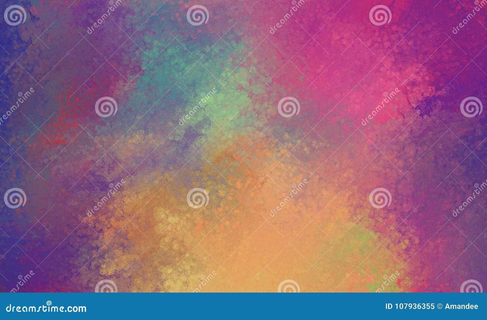 Fondo anaranjado y amarillo azul rosado púrpura con la falta de definición vidriosa de la textura de las luces del bokeh