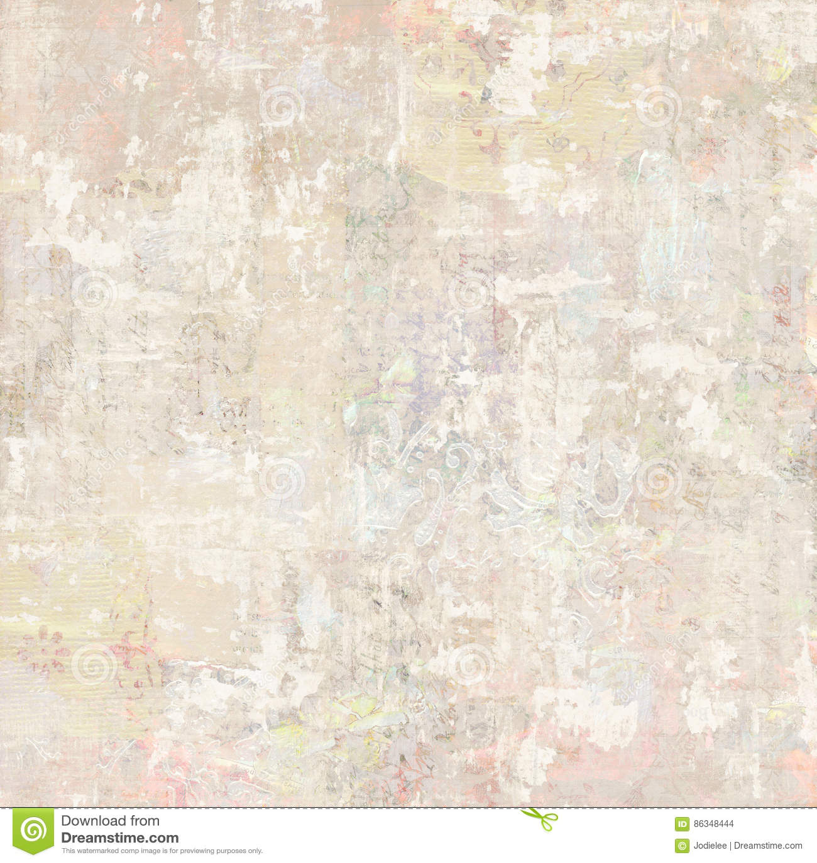 Fondo antiguo sucio del collage del papel pintado floral del vintage