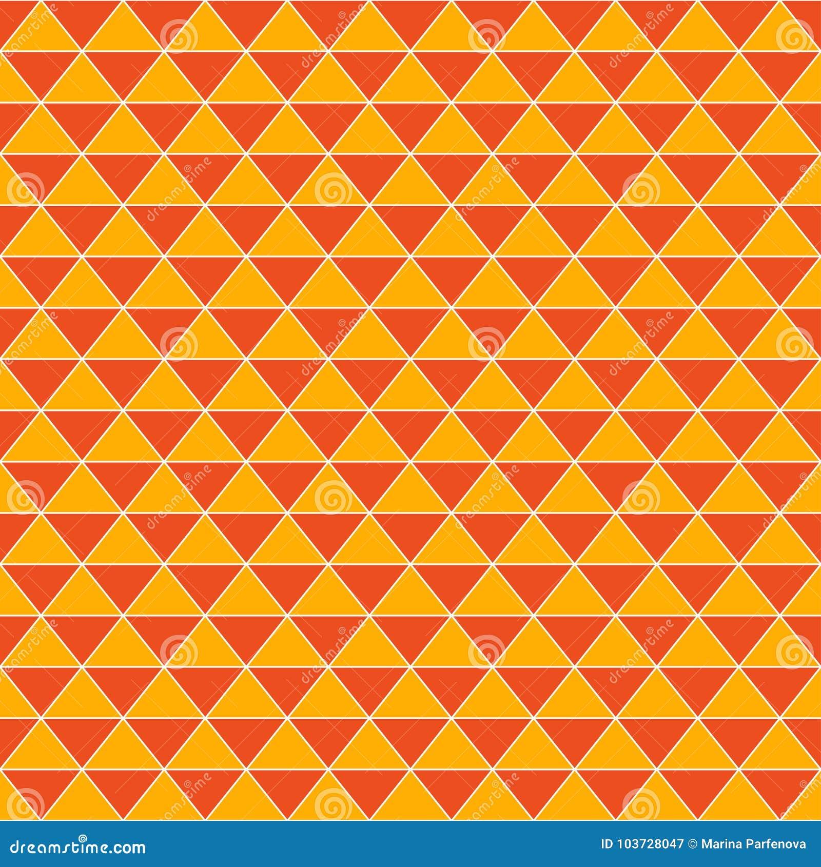 Fondo arancio d annata dei triangoli astratti