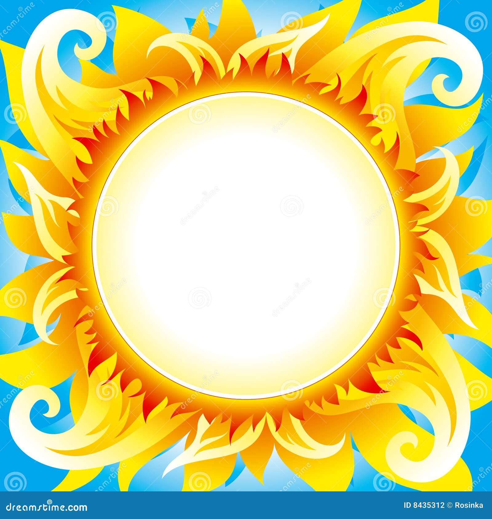 Fondo ardiente del vector del sol fotograf a de archivo for Fondo del sol