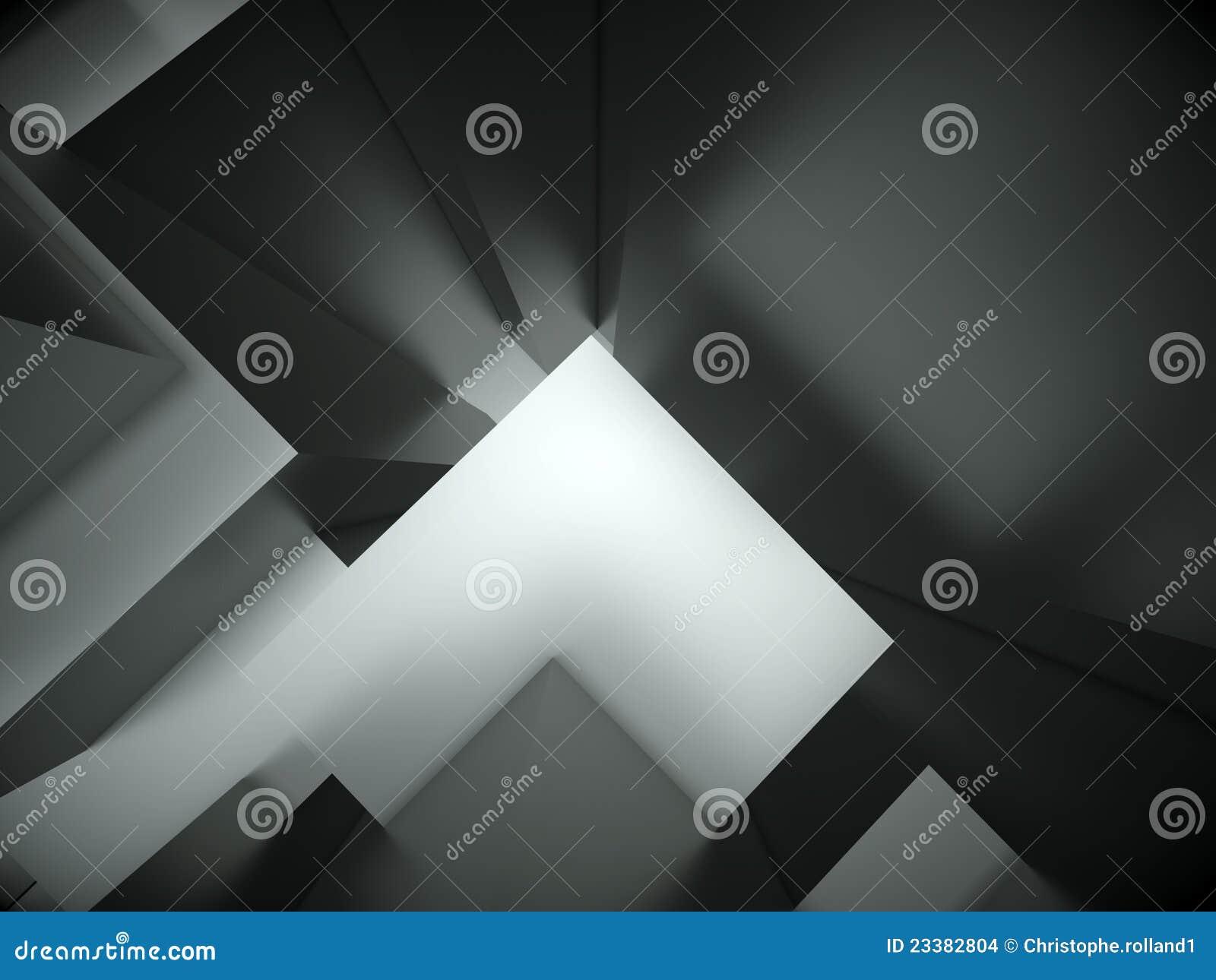 Fondo arquitectónico abstracto 3d