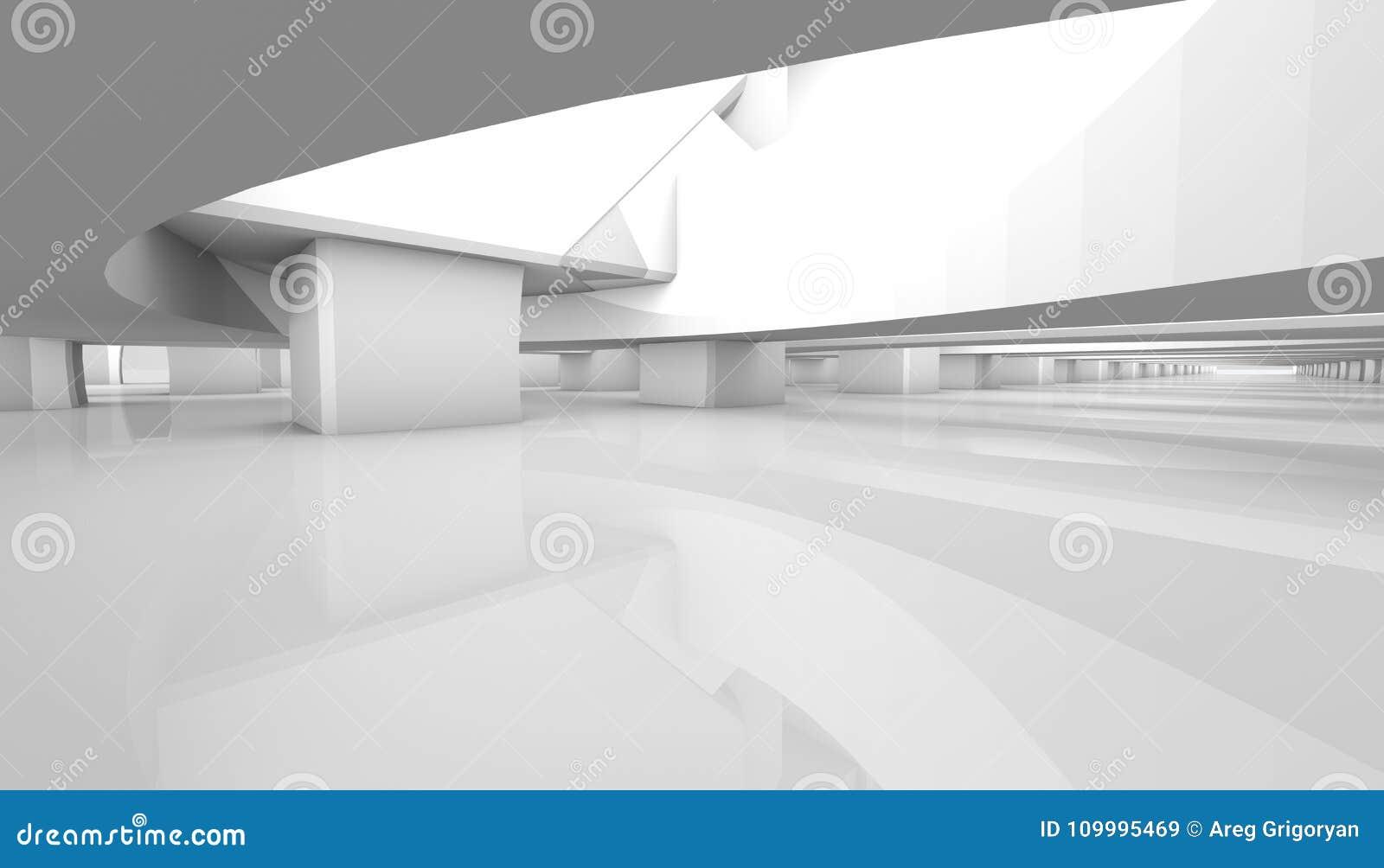 Fondo arquitectónico blanco representación paramétrica 3d