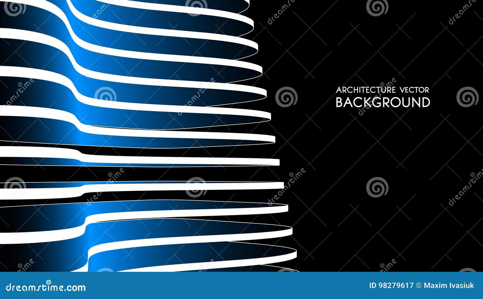 Fondo arquitectónico 3d ejemplo abstracto del vector diseño futurista abstracto 3D para la presentación del negocio