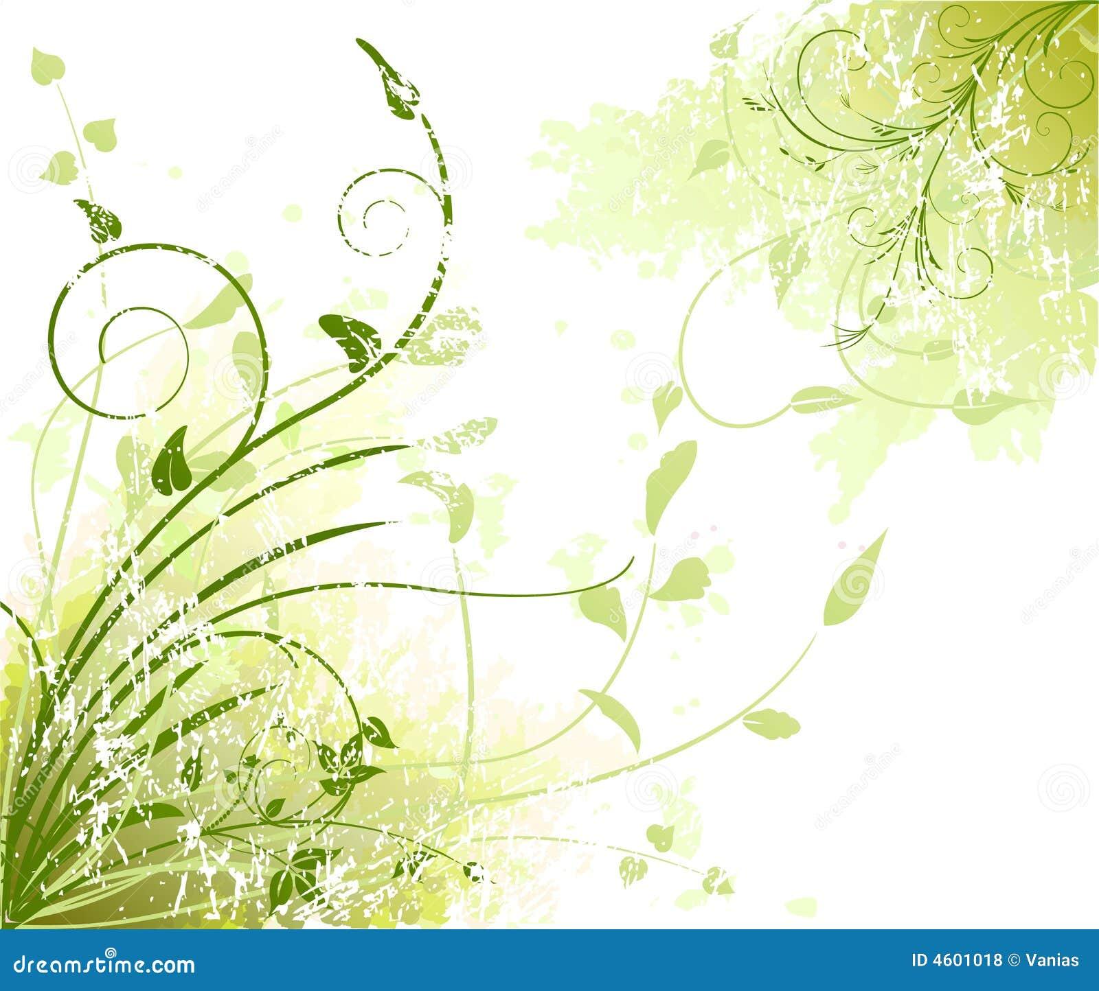 Fondo artístico floral del vector