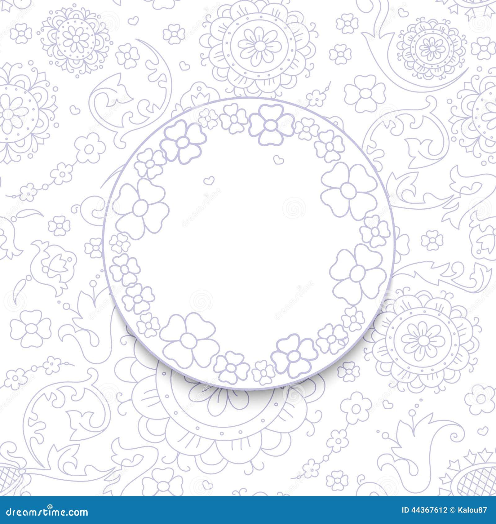Fondo astratto bianco floreale