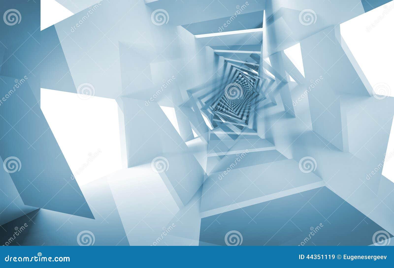 Fondo astratto blu, modello a spirale di fantasia