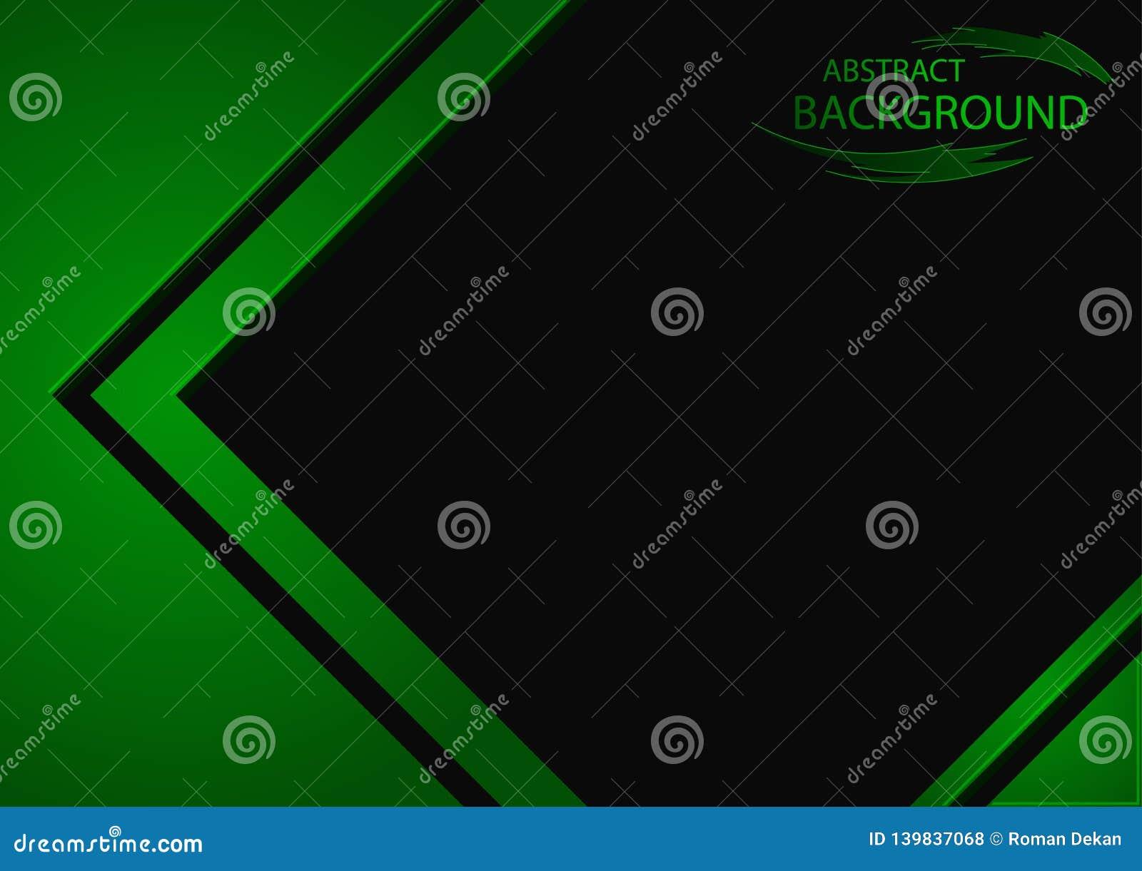 Fondo astratto con gli elementi geometrici verdi