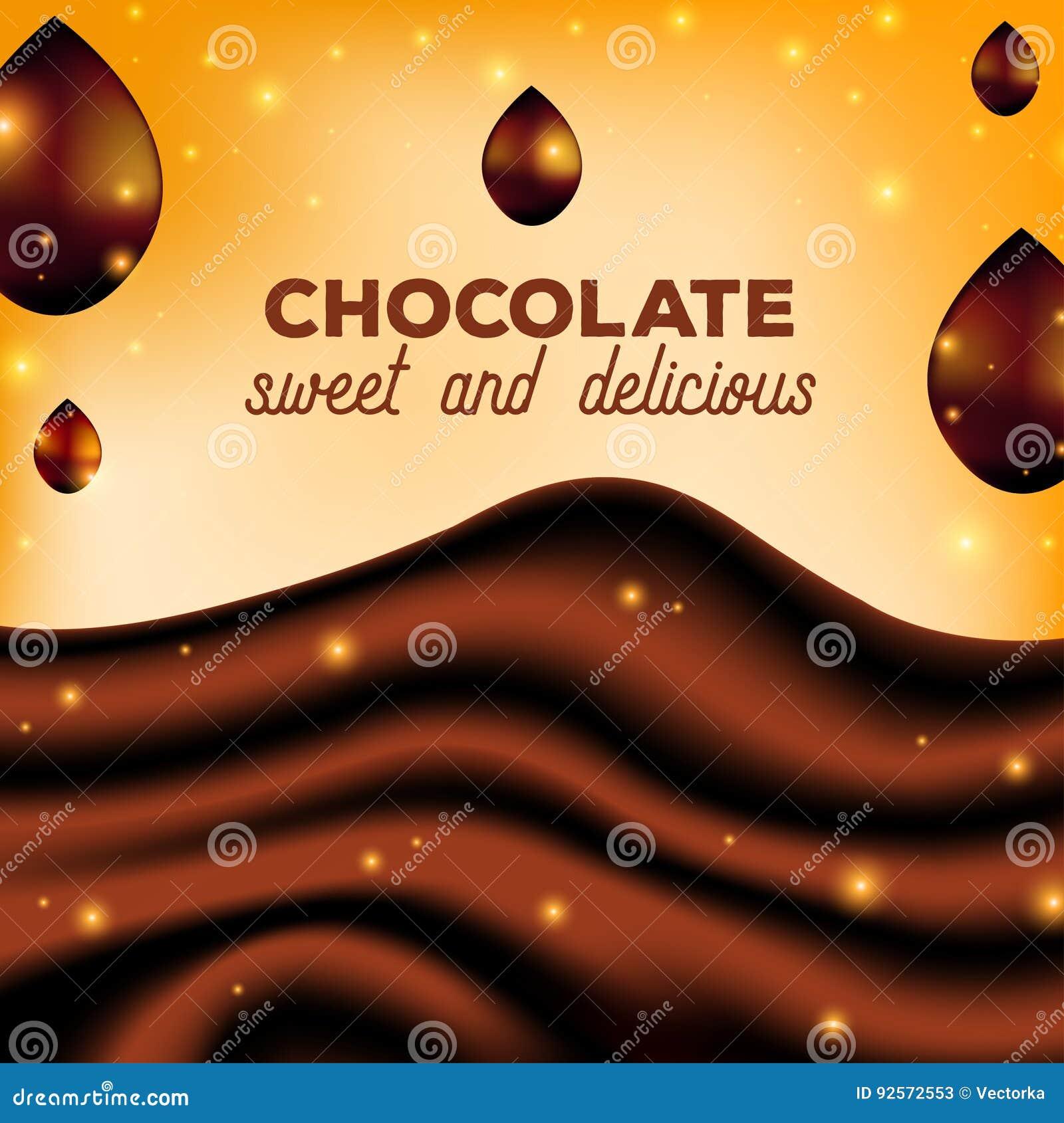 Fondo astratto con le gocce, seta di Brown, illustrazione del cioccolato di vettore