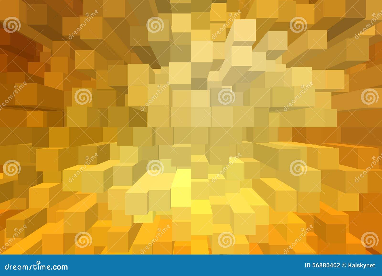 Fondo astratto del blocco 3D