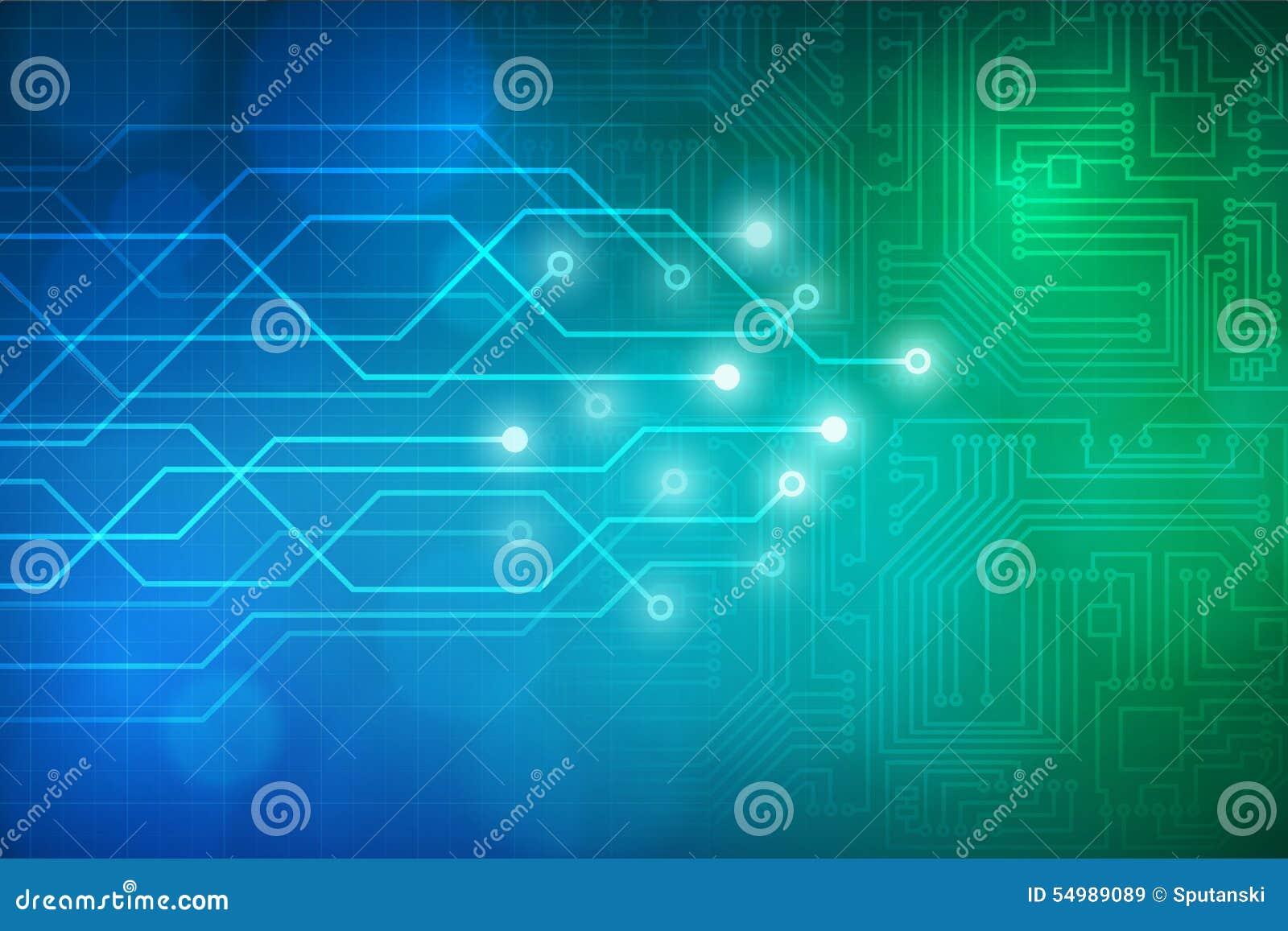 Fondo astratto del circuito di tecnologia