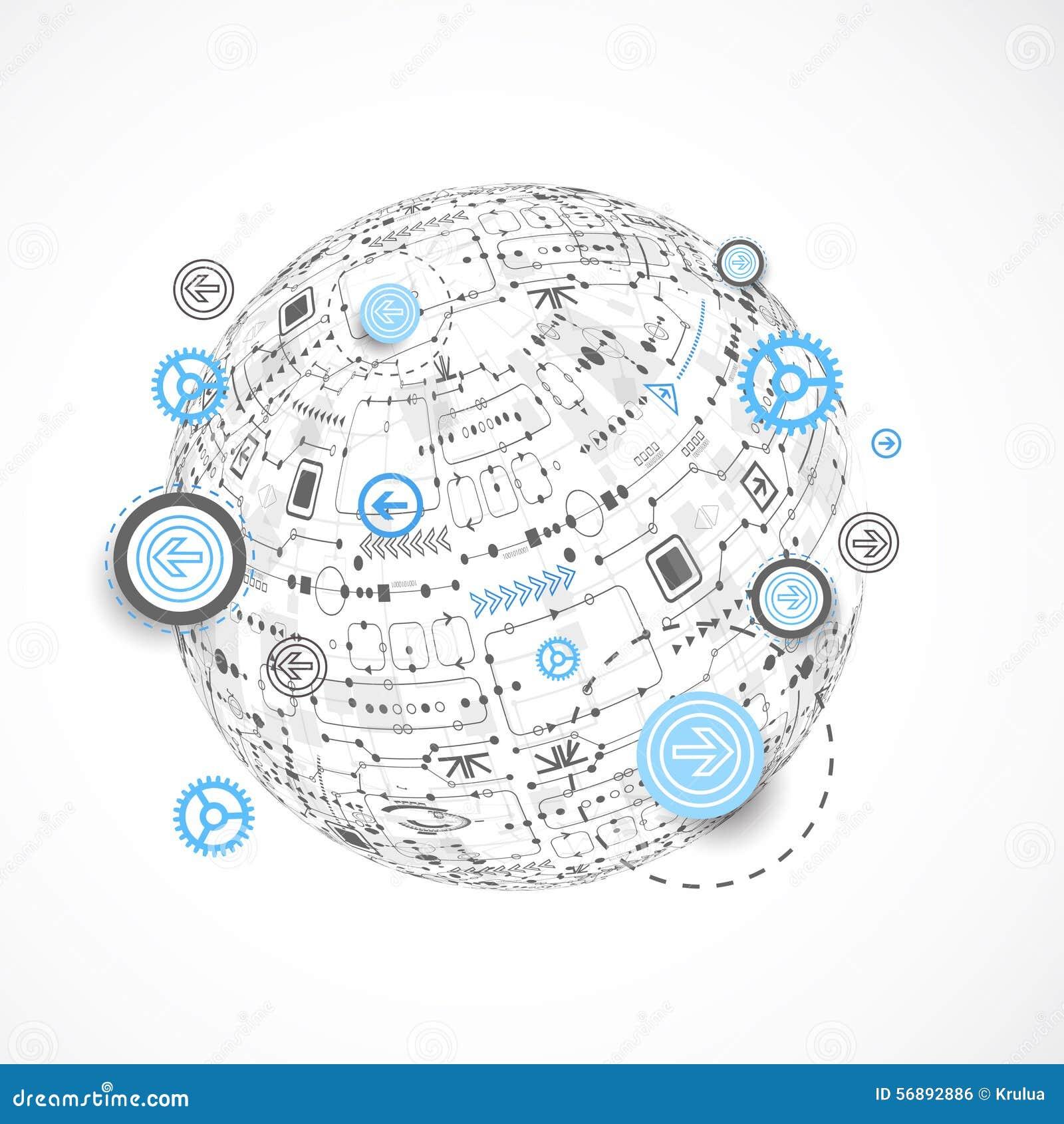 Fondo astratto del globo di tecnologia