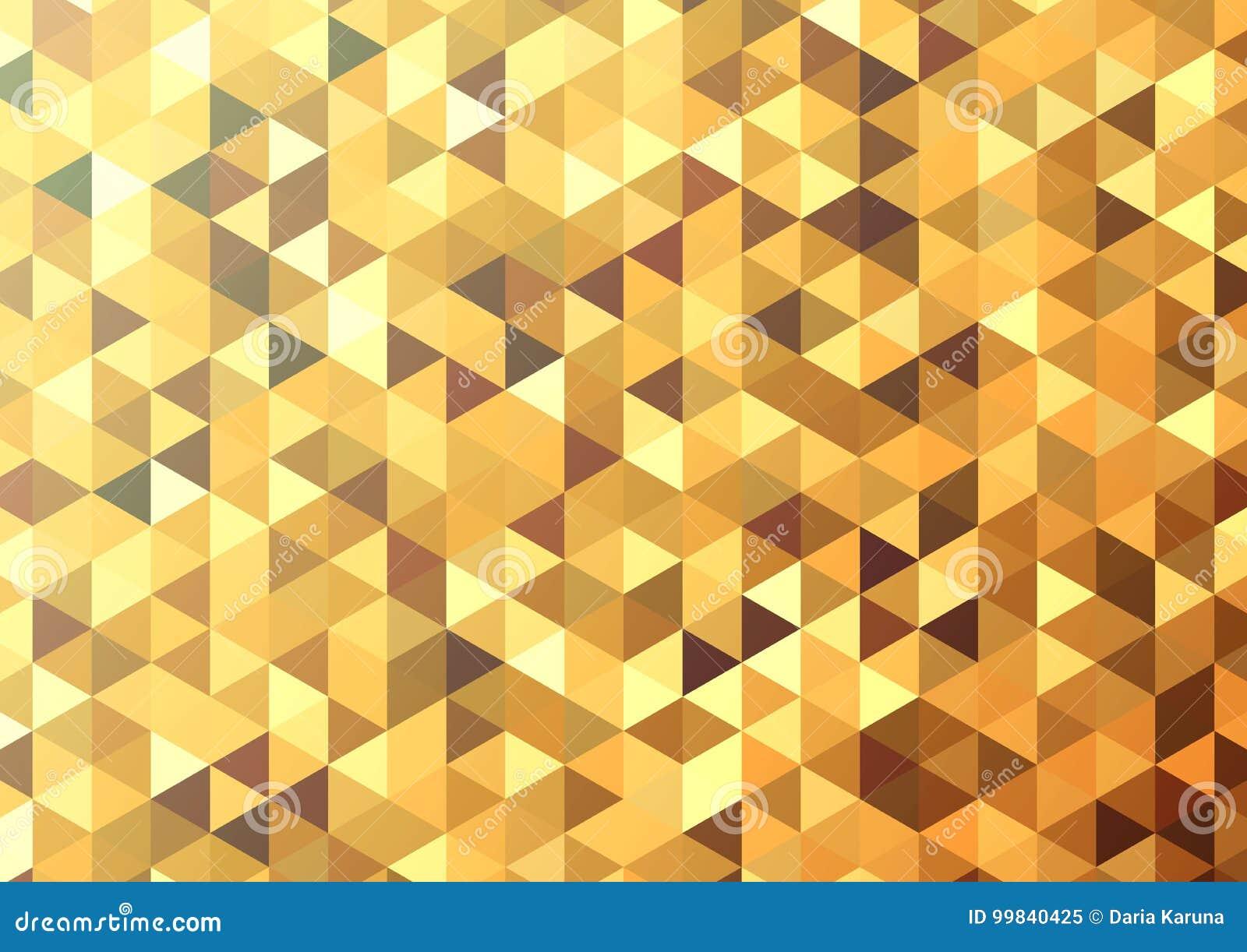 Fondo astratto del mosaico di colore Fondo di vettore dell oro