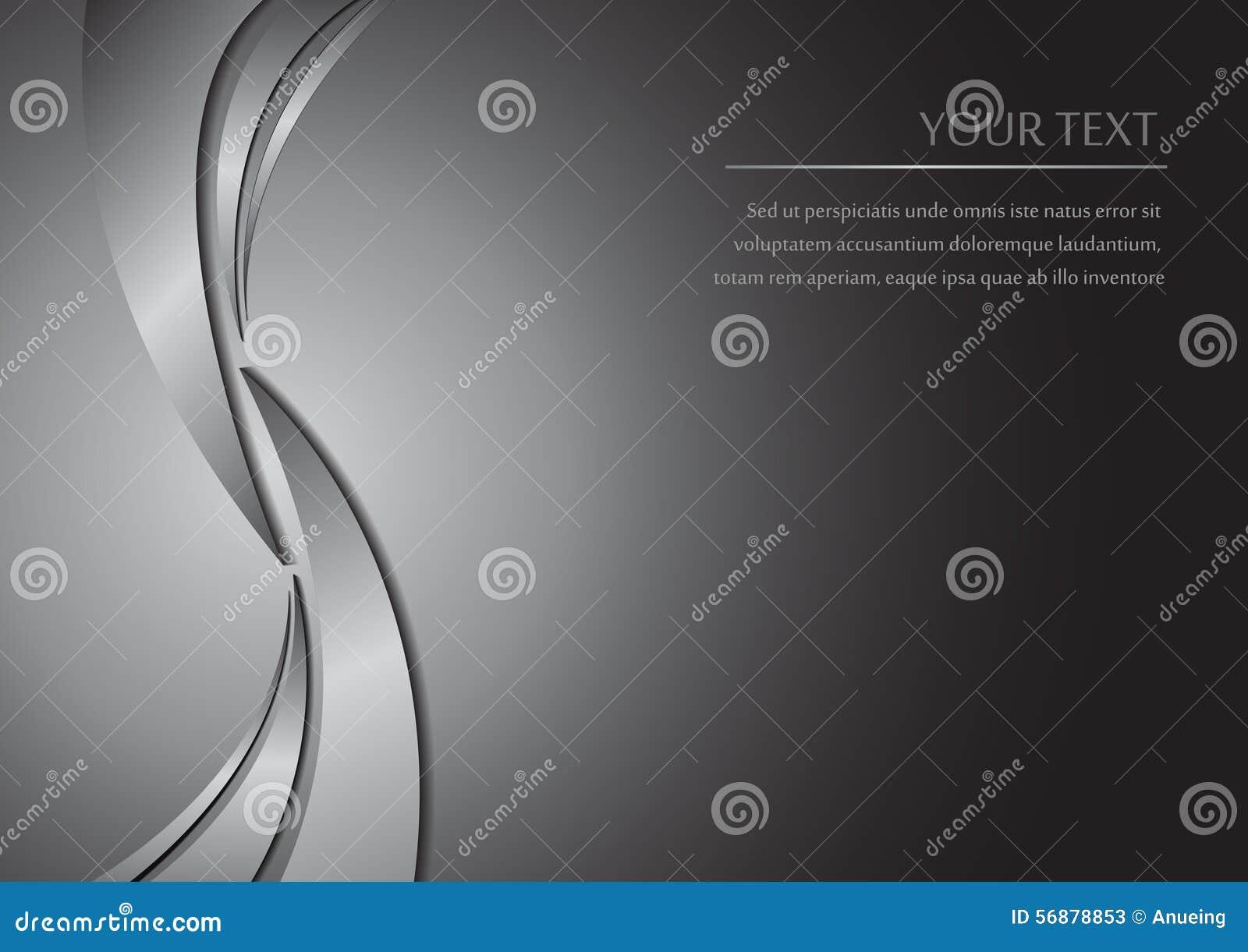 Fondo astratto della curva del metallo