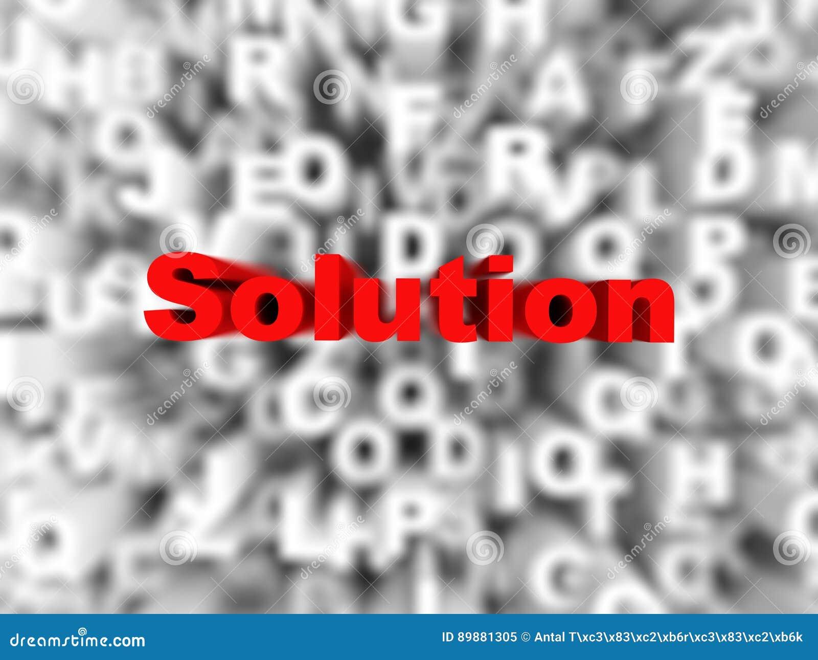 Fondo astratto della soluzione