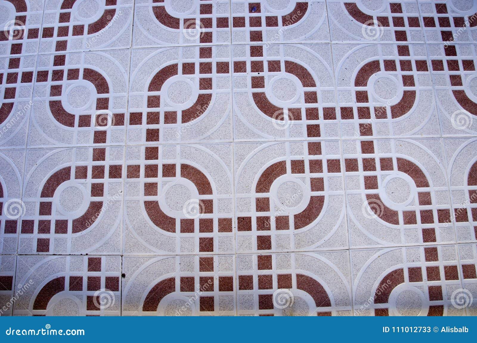 Fondo astratto delle piastrelle per pavimento ornamentali immagine