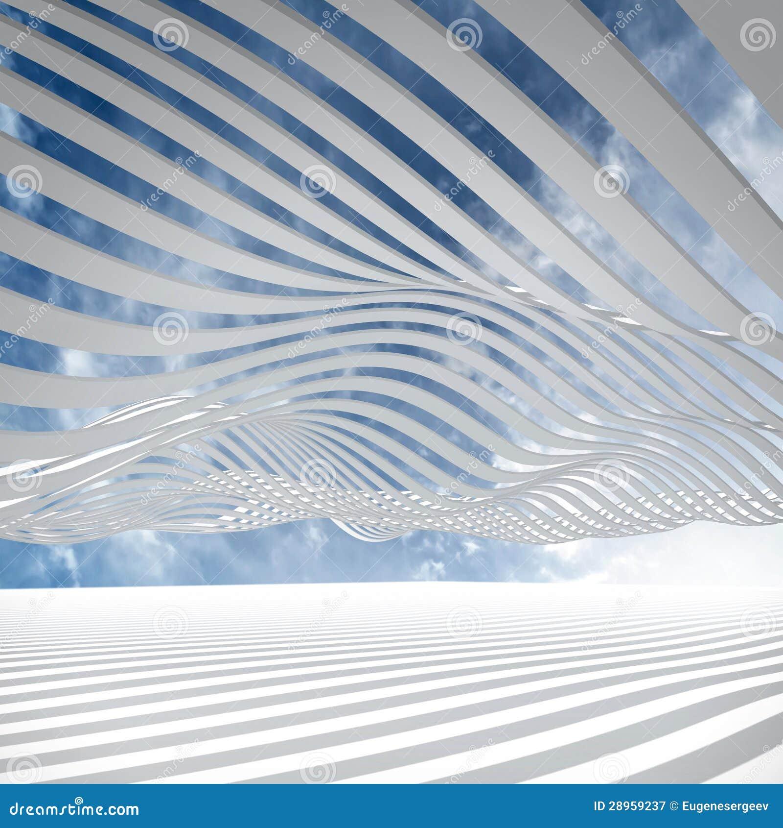 Fondo astratto di architettura 3d illustrazione di stock for Architettura 3d