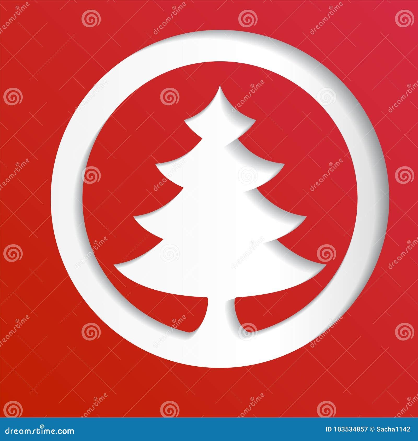 Fondo astratto di carta creativo dell albero di Natale, illustrazione di vettore eps10