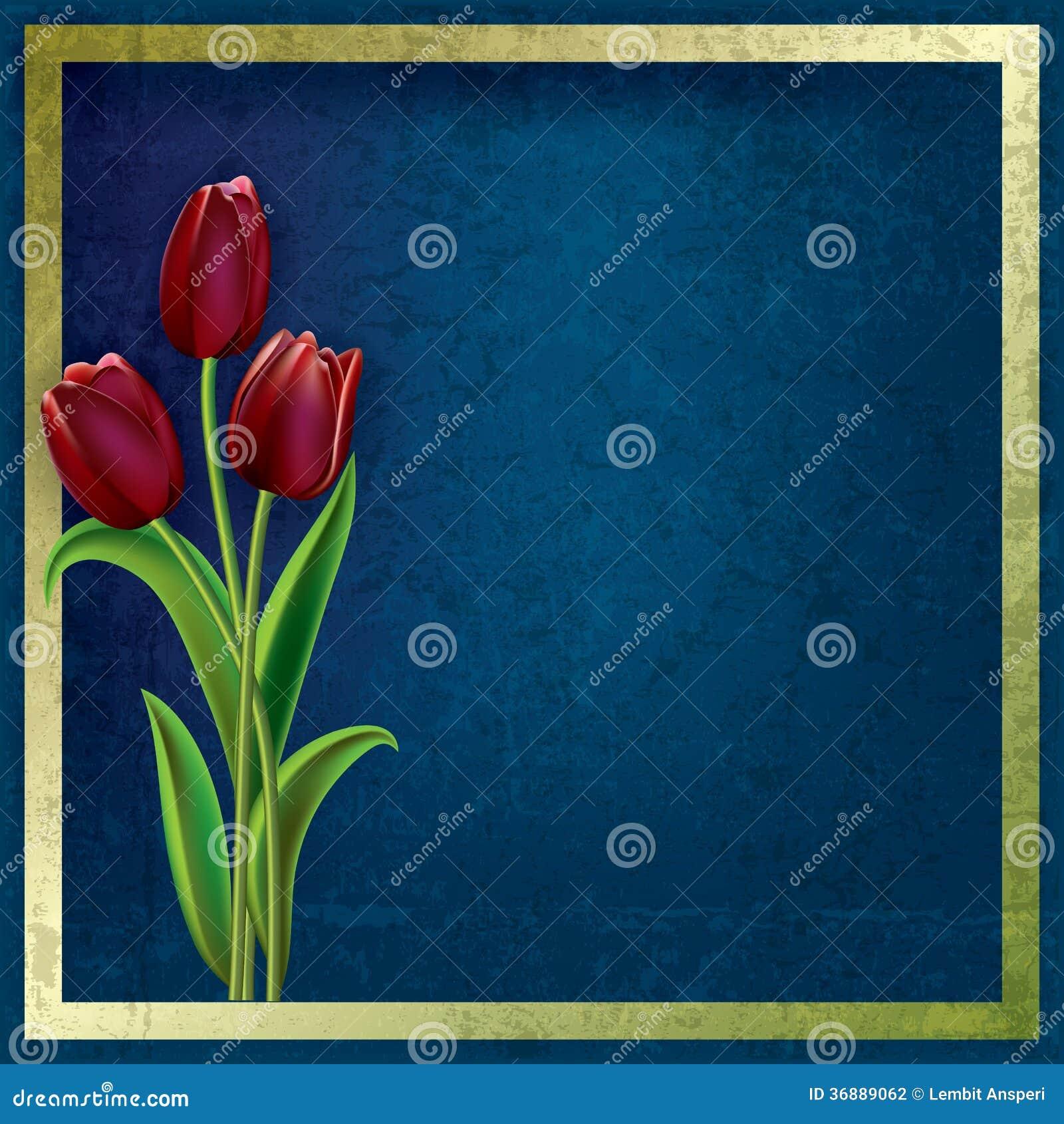 Download Fondo Astratto Di Lerciume Con I Tulipani Illustrazione Vettoriale - Illustrazione di grafico, fiore: 36889062