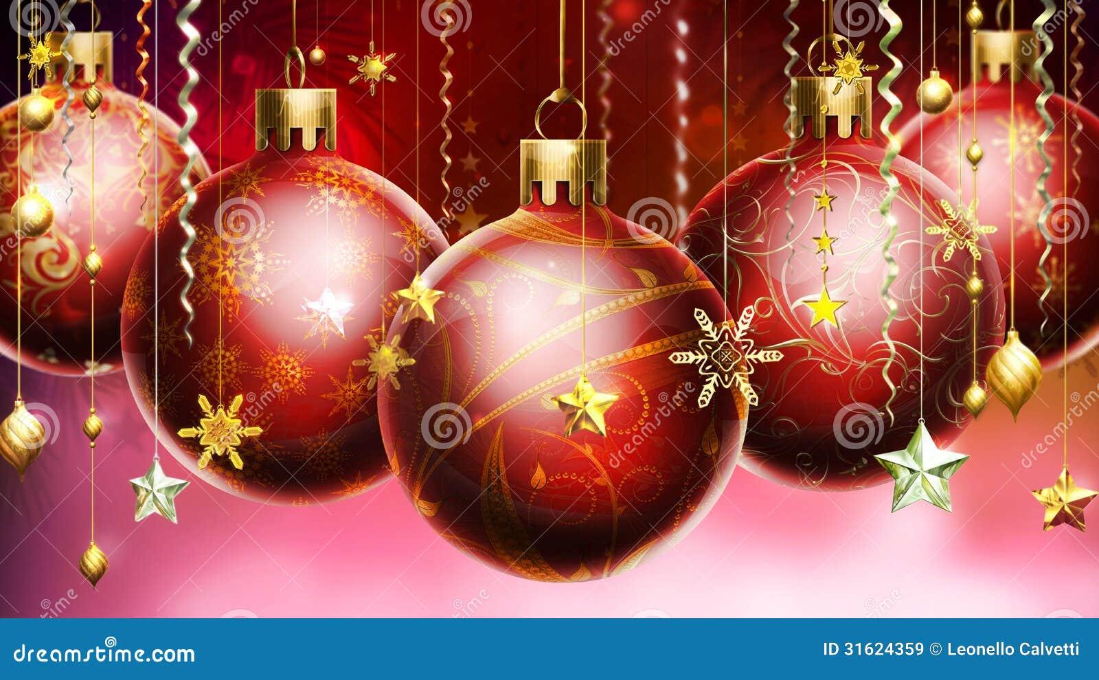 Fondo astratto di natale con le grandi palle decorate alla for Antifurto con le palle