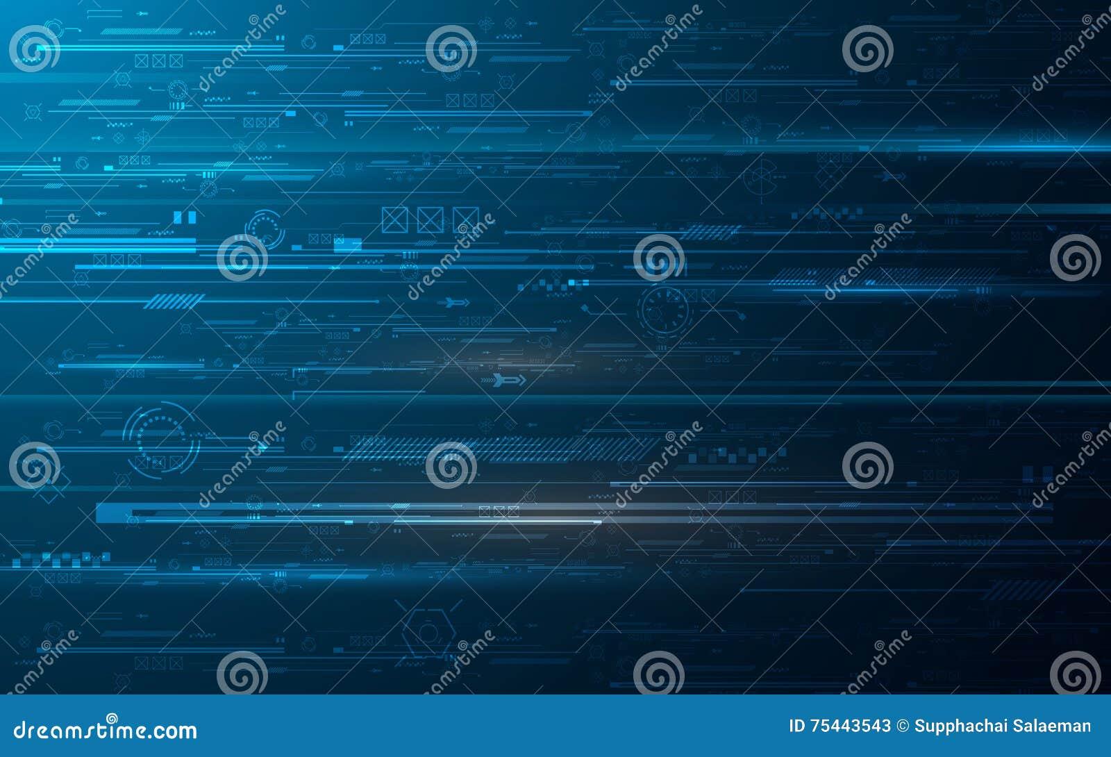 Fondo astratto di progettazione di massima dell innovazione delle cifre di tecnologia del hud
