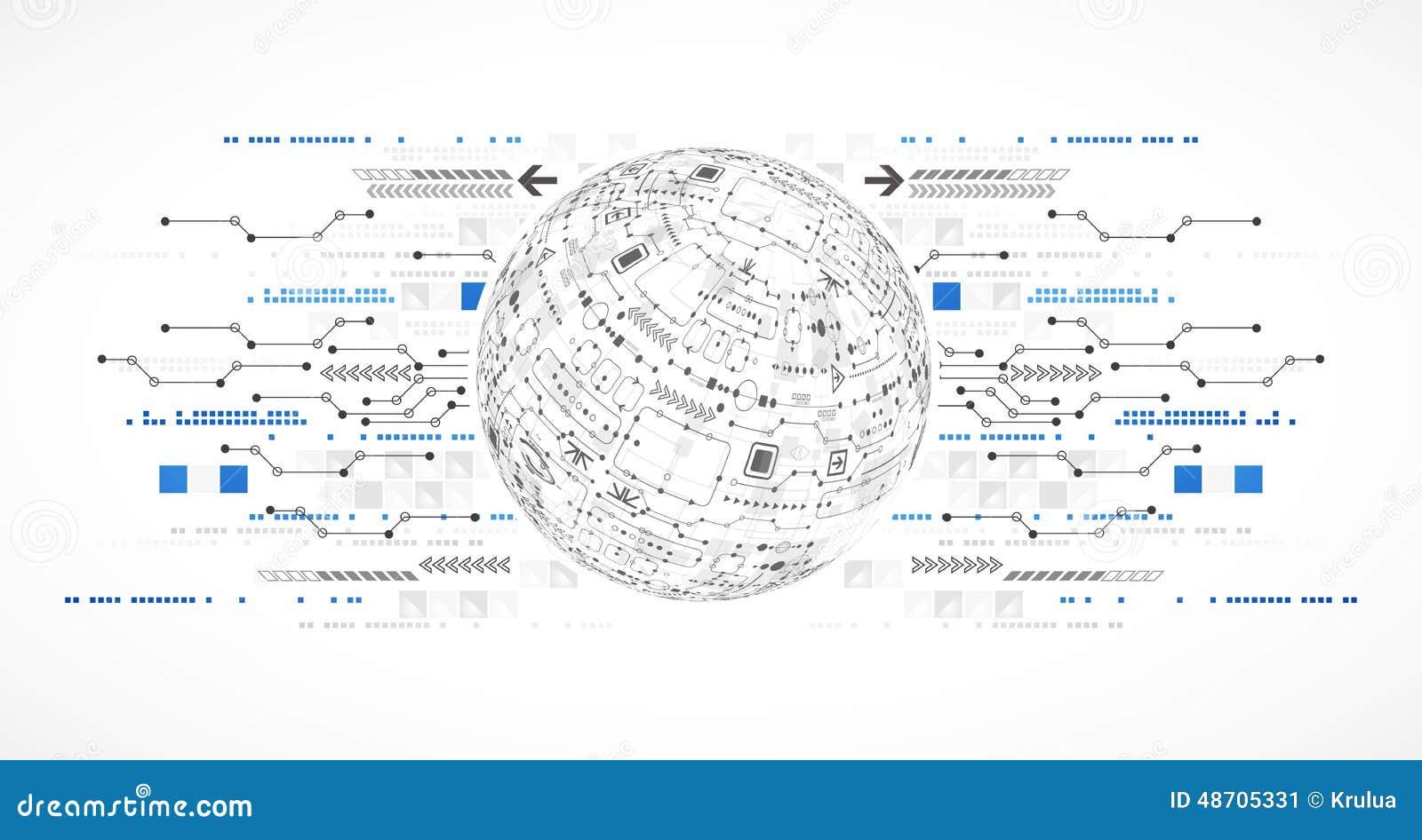Fondo astratto di tecnologie informatiche per il vostro affare