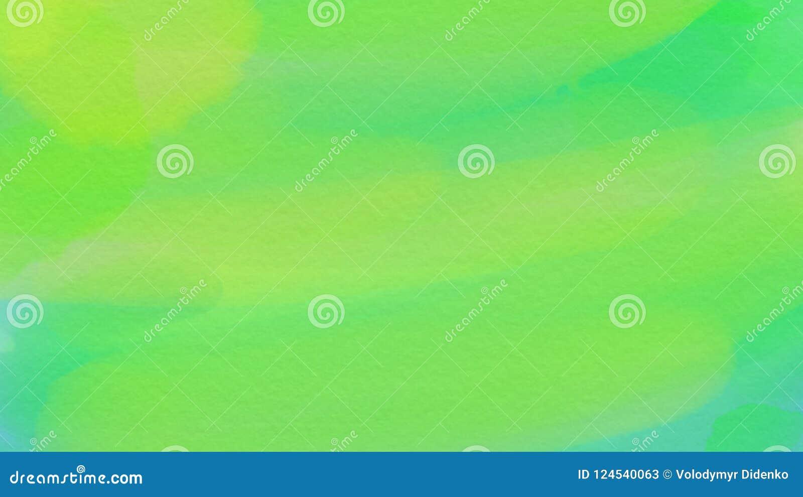 Fondo astratto impressionante per webdesign, fondo variopinto, vago, carta da parati di verde dell acquerello