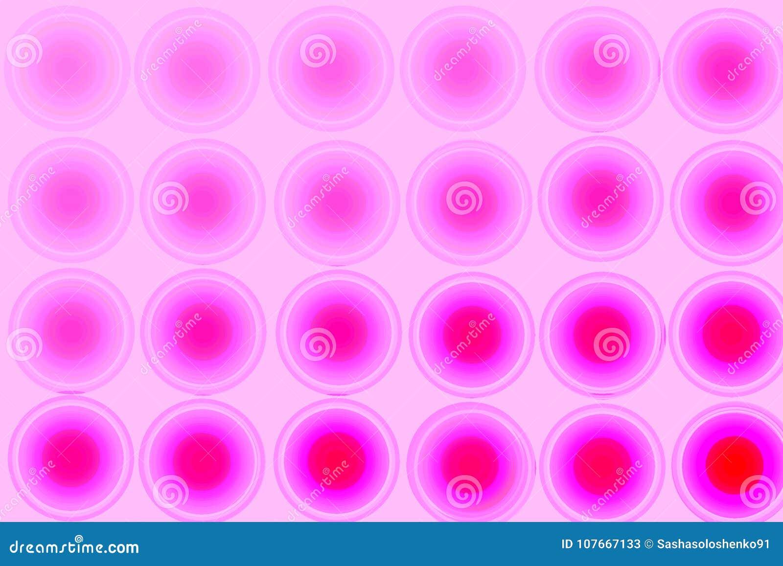 Fondo astratto rosa, cerchi, pendenza