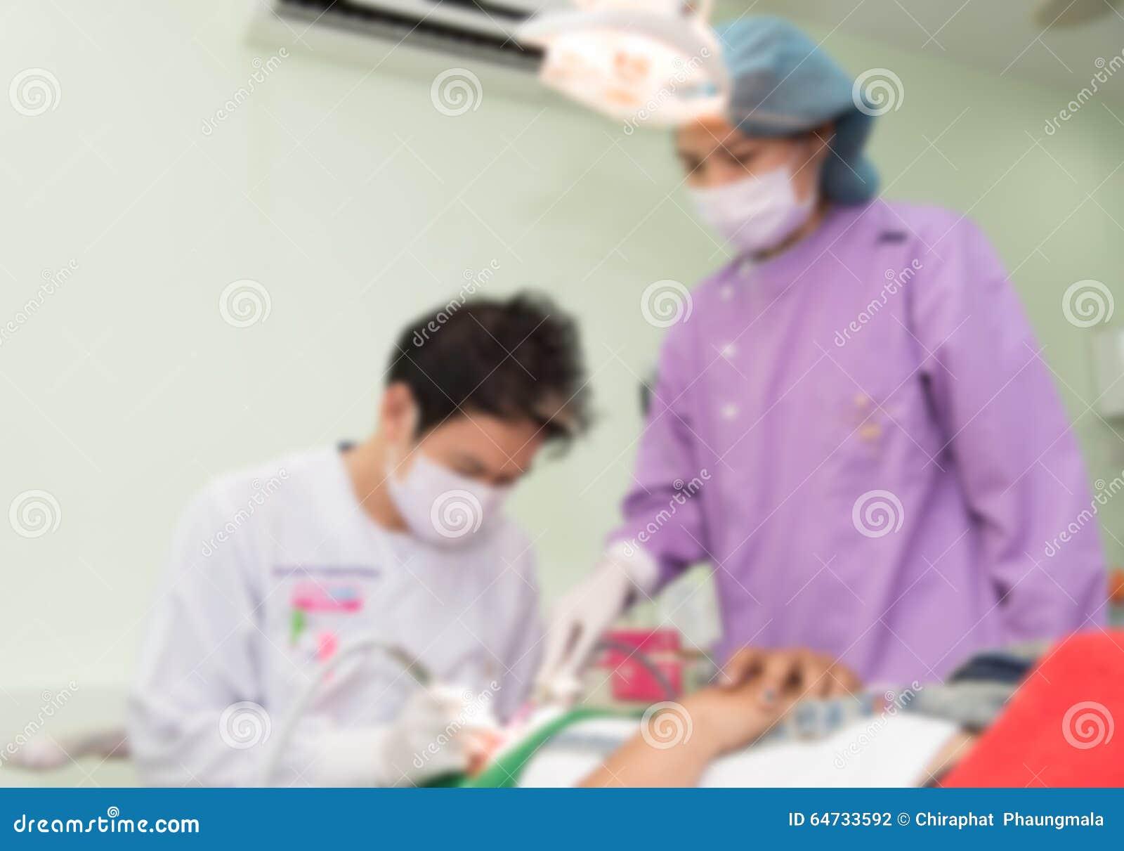 Fondo astratto vago dell interno della stanza dell unità di cura di odontoiatria