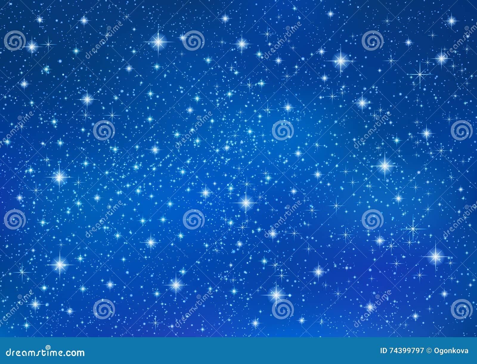 Fondo Azul Abstracto Con Las Estrellas Que Centellean