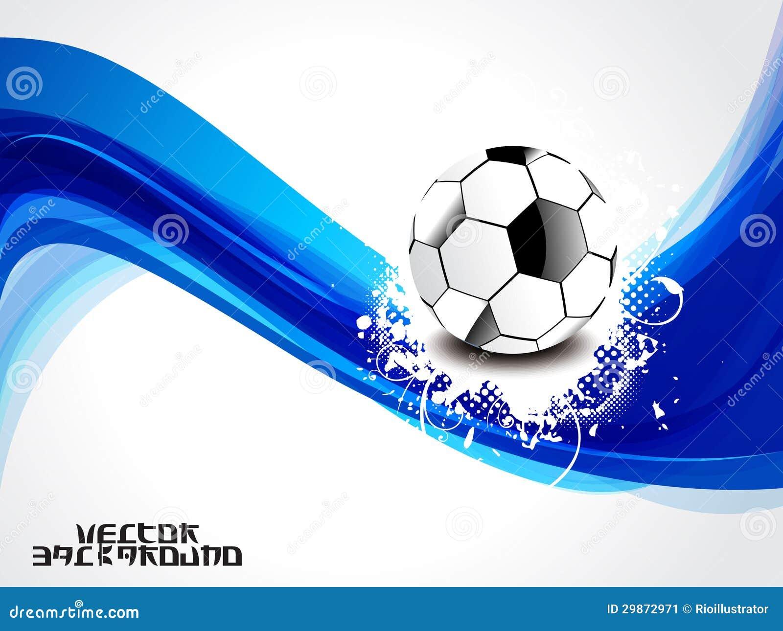 Fondo Azul Abstracto De La Onda Con Fútbol Ilustración del Vector ... 00b3ad76005ab